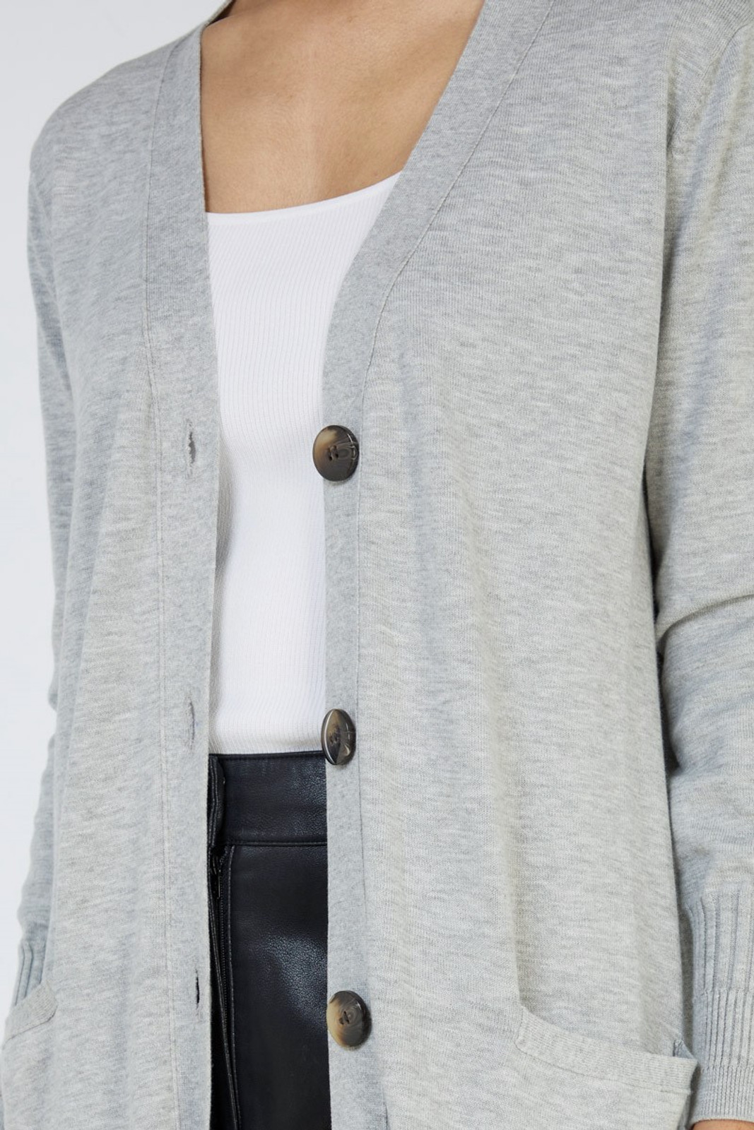 Elka Collective Slate Knit Cardi Grey  3
