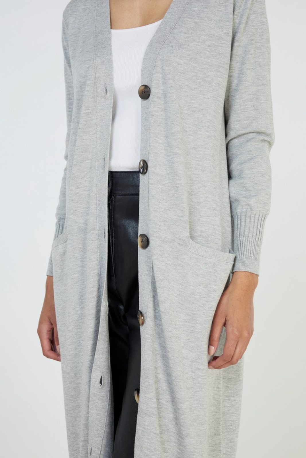 Elka Collective Slate Knit Cardi Grey  4
