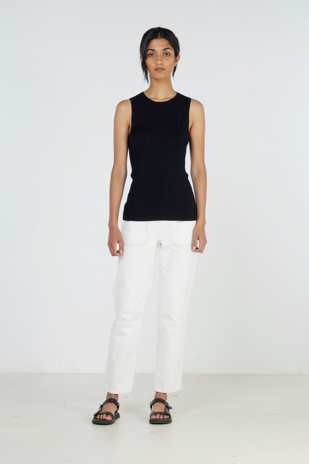 Elka Collective WOMENS Black Tone Knit Top 1