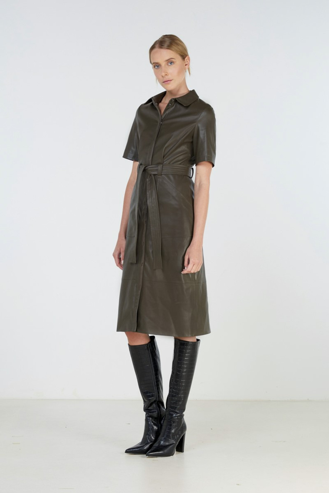 Elka Collective Reflection Dress Green  0