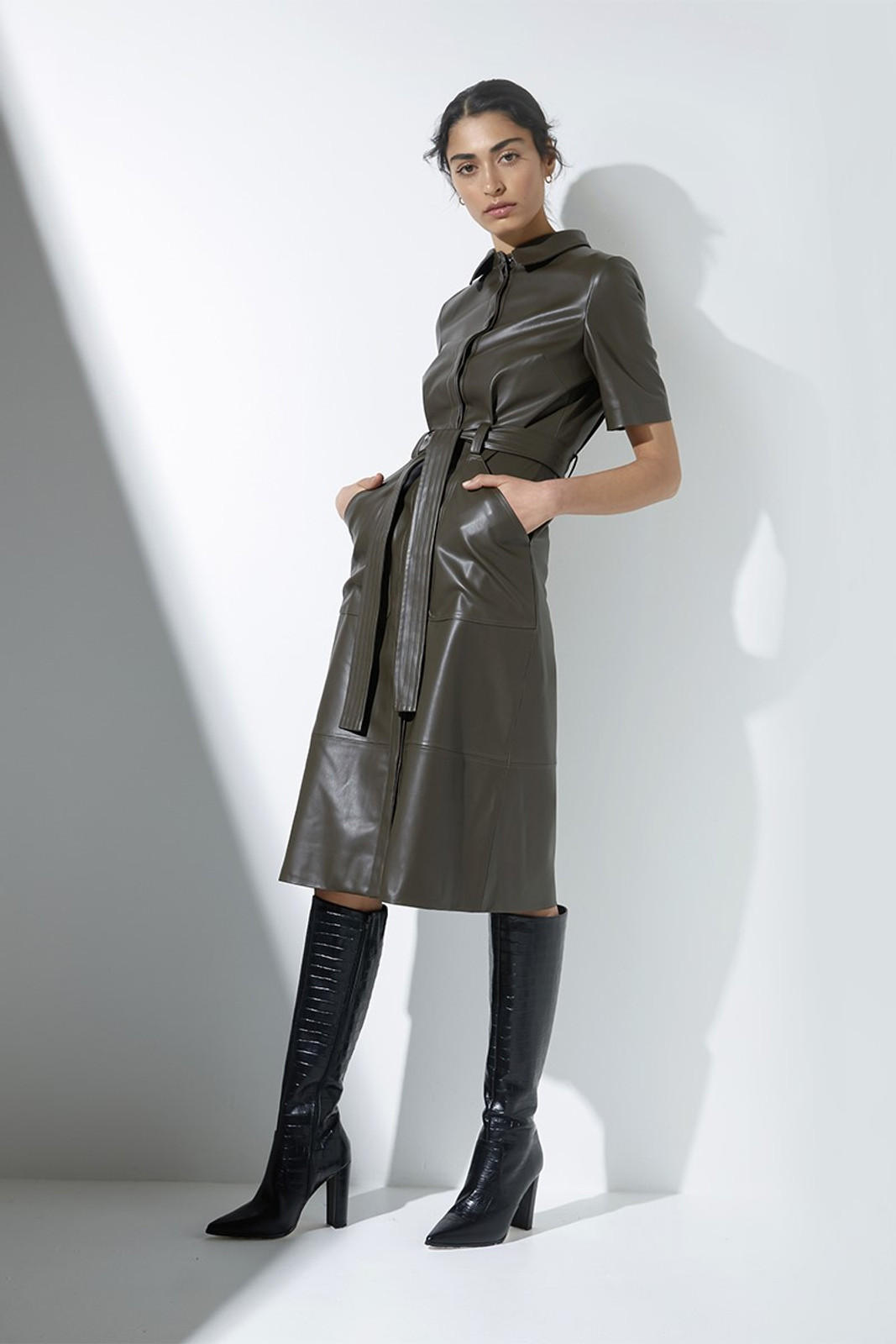 Elka Collective Reflection Dress Green  1