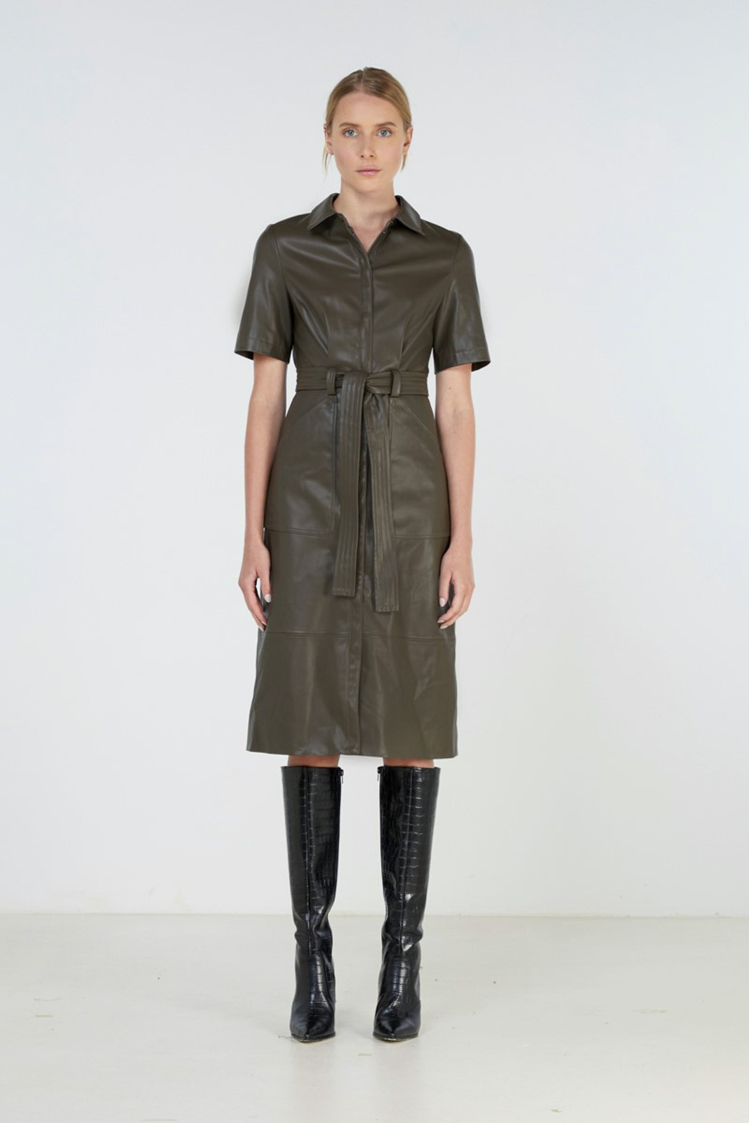 Elka Collective Reflection Dress Green  2