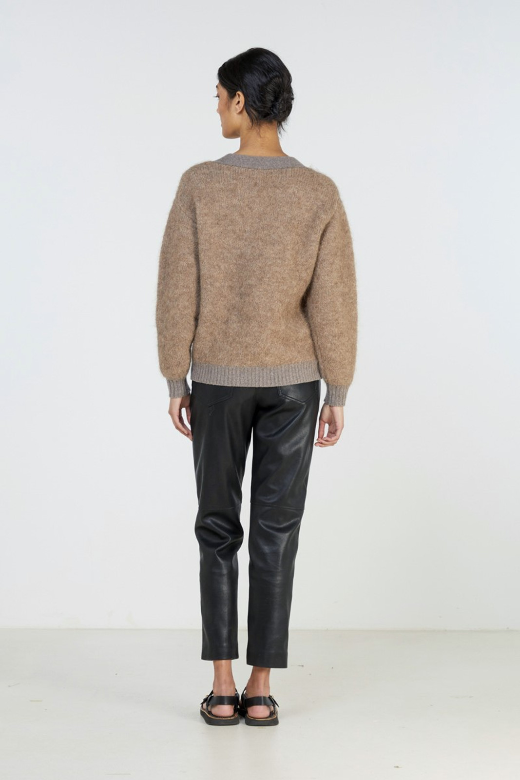Elka Collective Unity Knit Cardi Brown  3