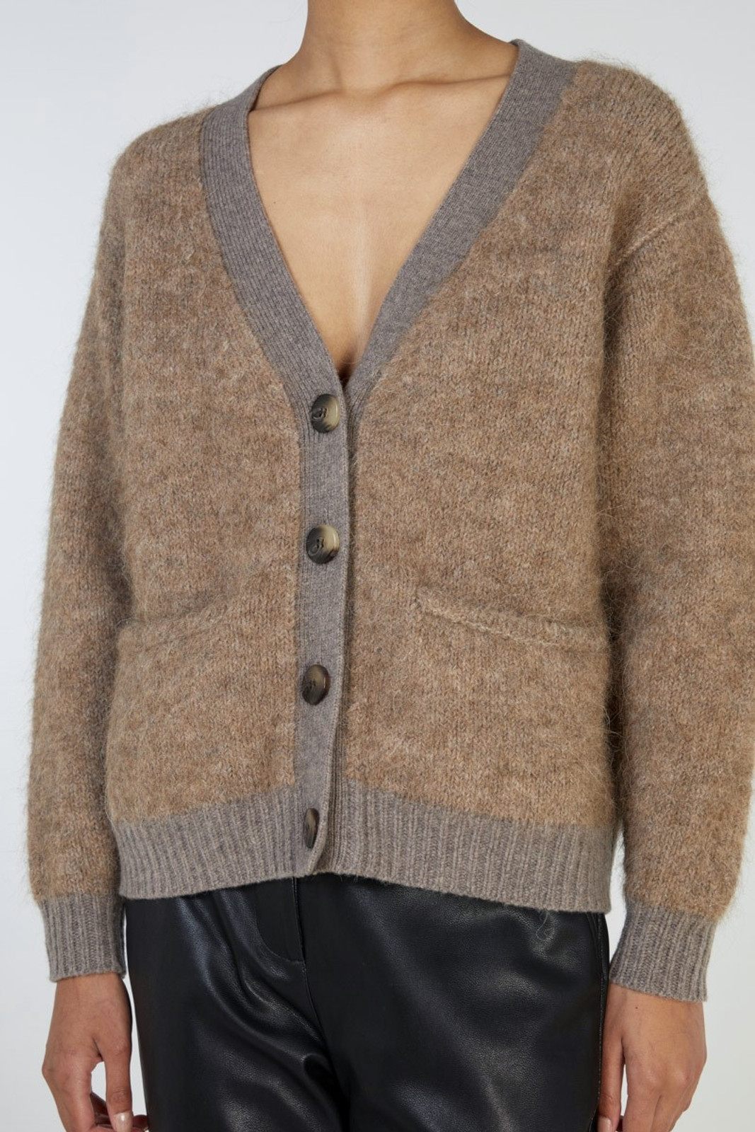 Elka Collective Unity Knit Cardi Brown  4