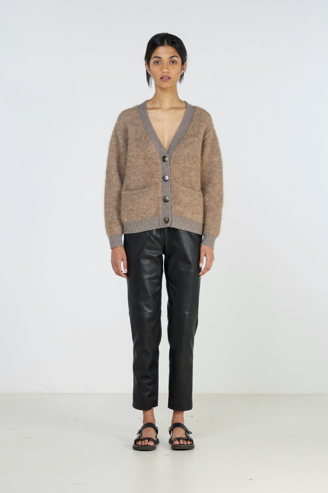 Elka Collective Unity Knit Cardi Brown  0