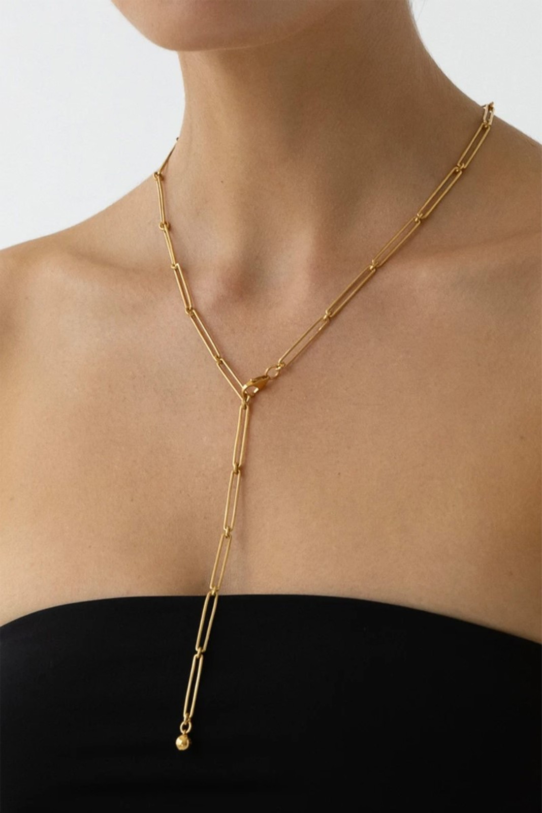 Elka Collective Womens Gold Flash Vermouth Chain Necklace 1