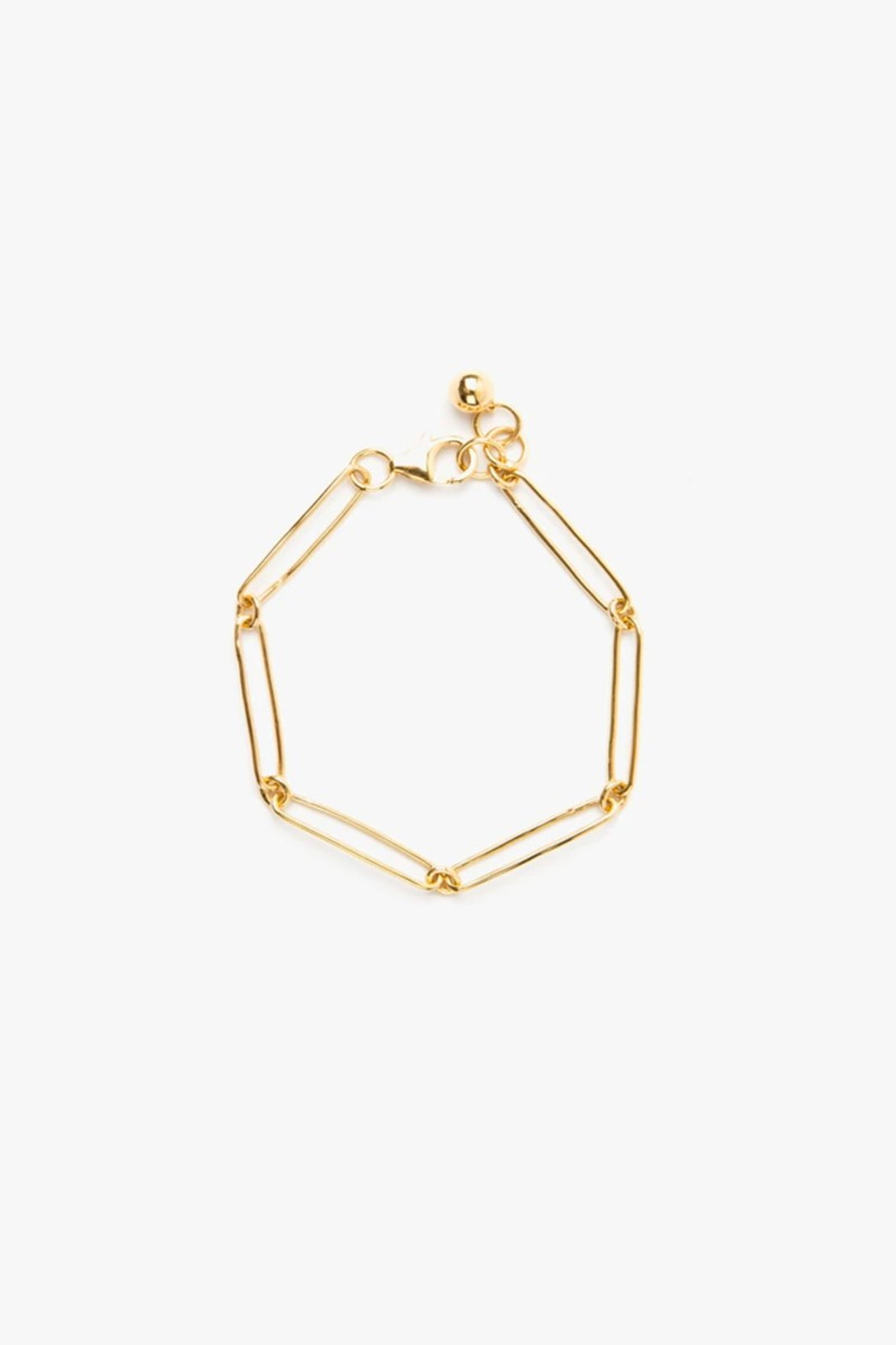Elka Collective Womens Gold Flash Vermouth Chain Bracelet 0