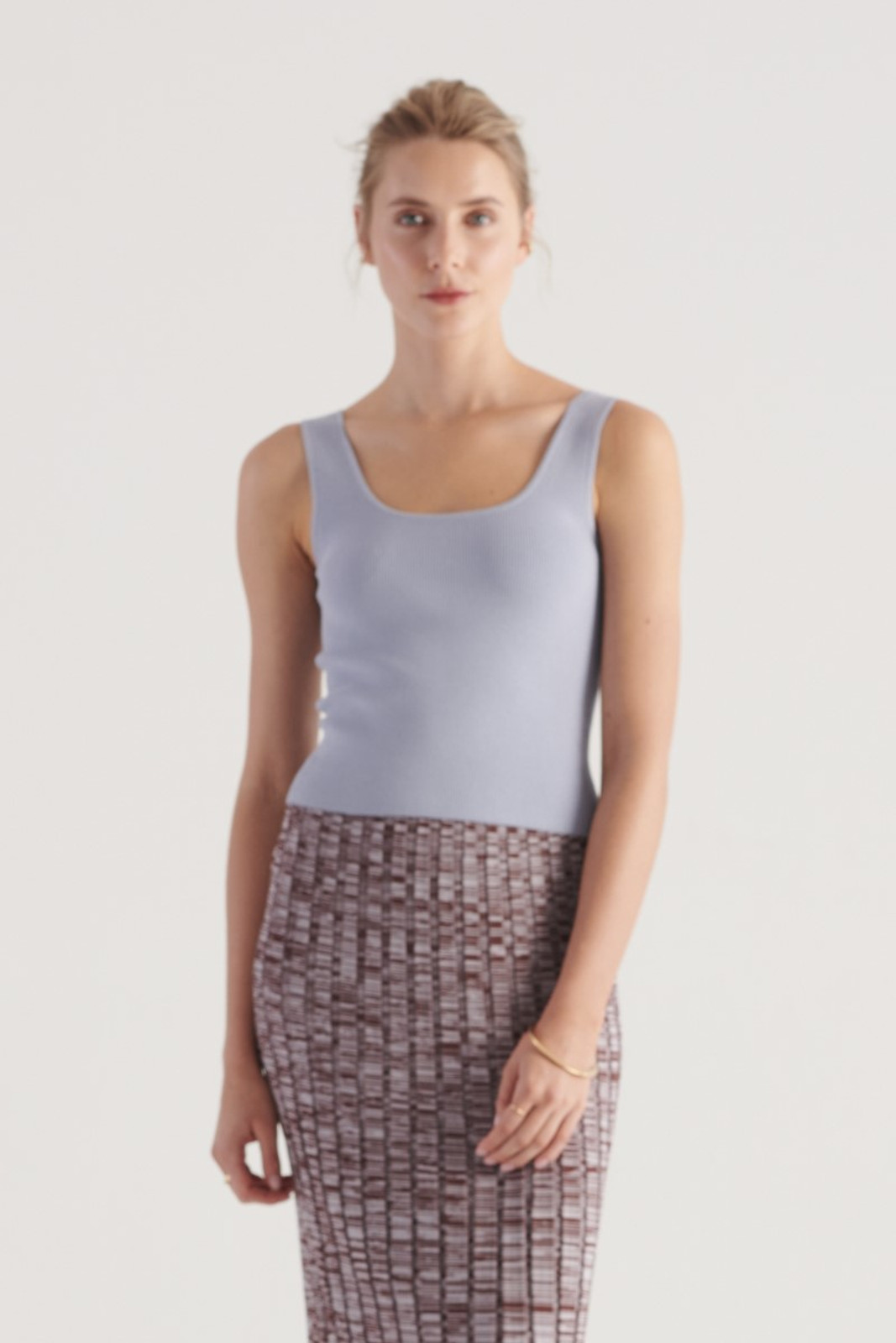 Elka Collective WOMENS Blue Frame Knit Top 0