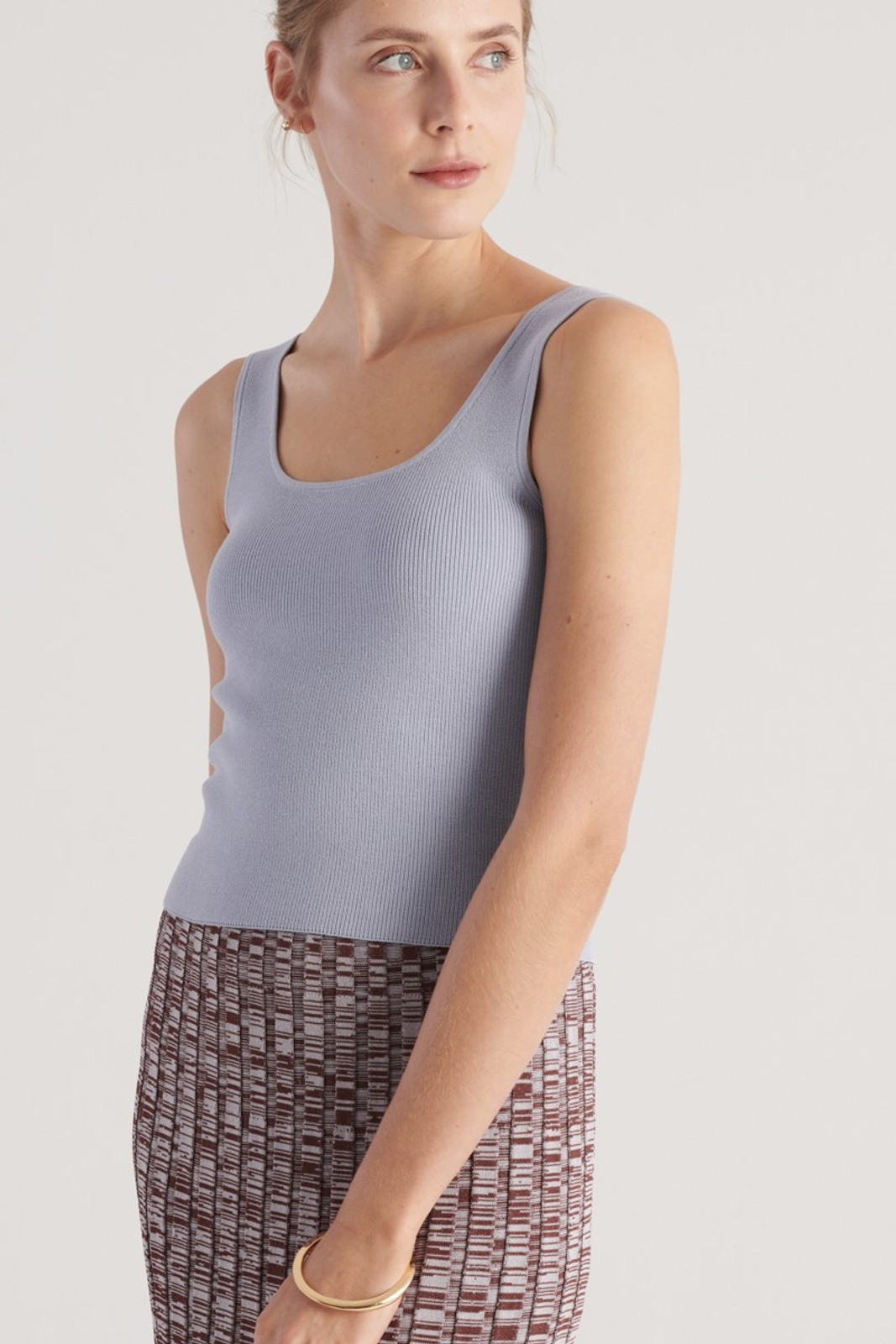 Elka Collective WOMENS Blue Frame Knit Top 6