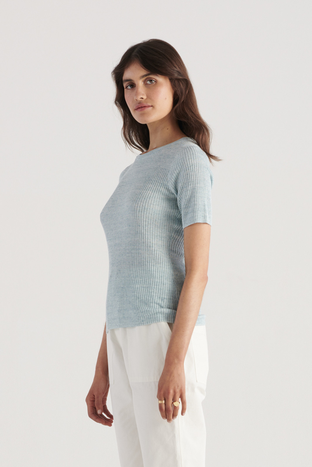 Elka Collective WomensGale Knit Top Sea Blue  0
