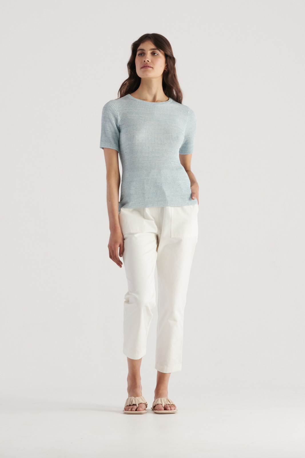 Elka Collective WomensGale Knit Top Sea Blue  1