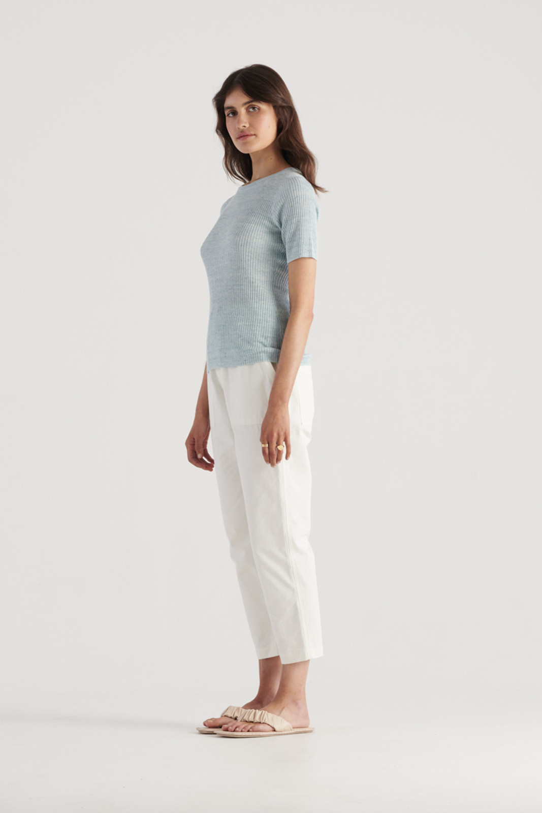 Elka Collective WomensGale Knit Top Sea Blue  2