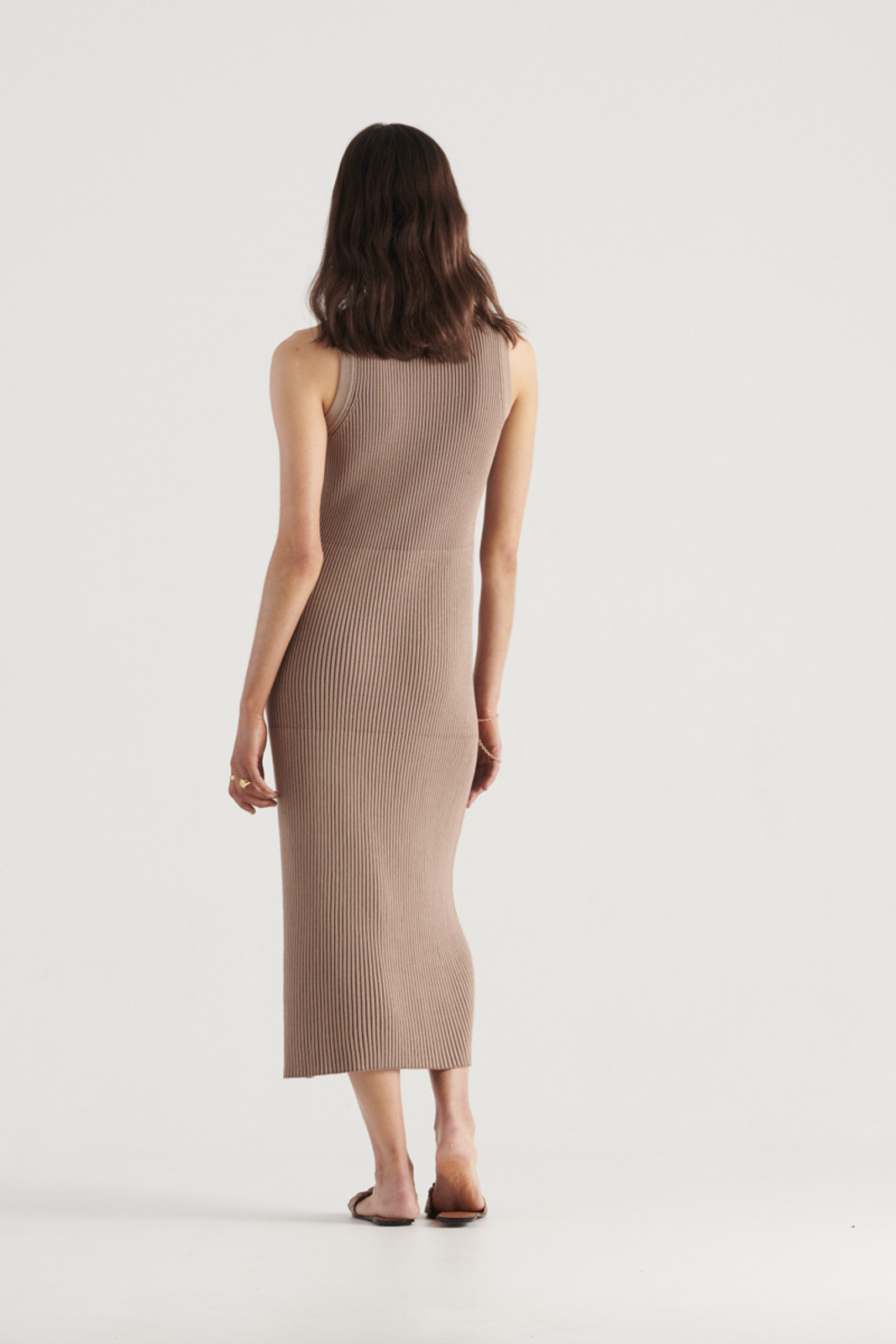 Elka Collective WomensBowie Knit Dress Taupe  2