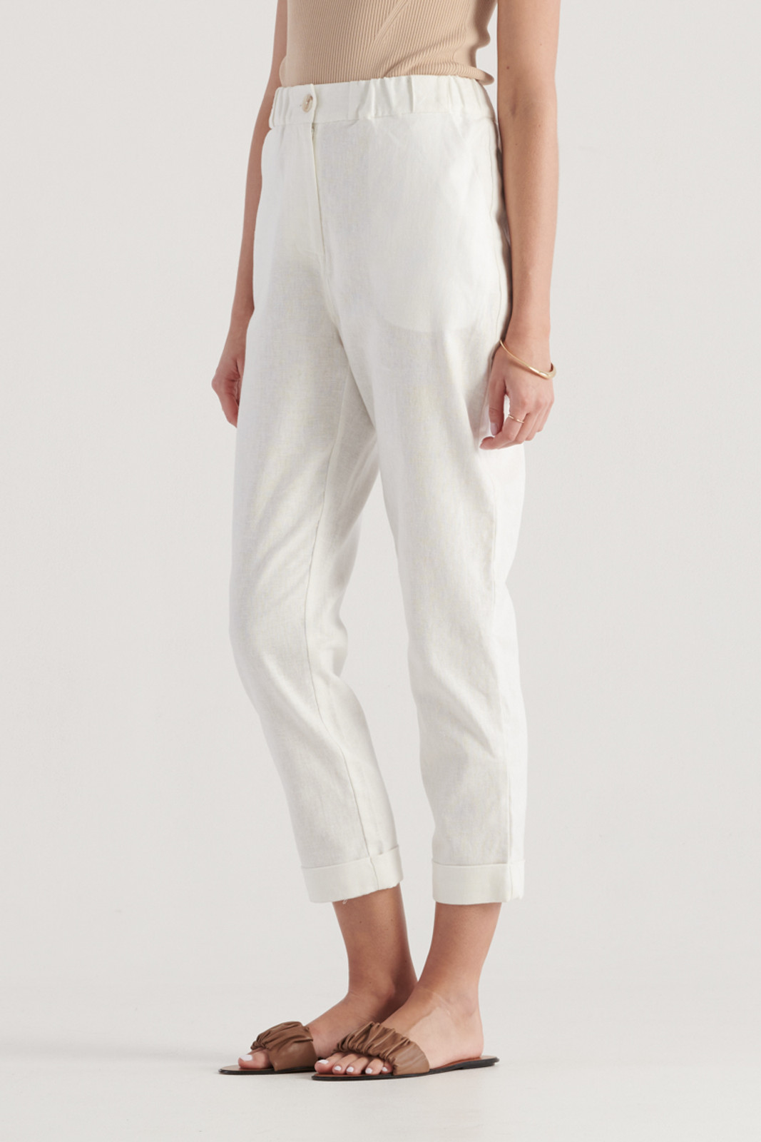 Elka Collective Womens White Margot Pant 0