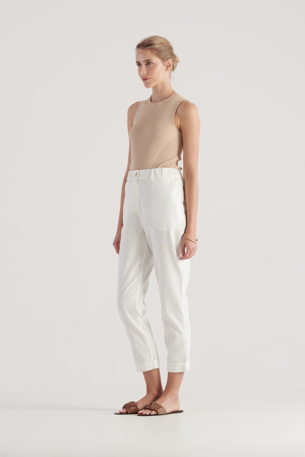 Elka Collective Womens White Margot Pant 2
