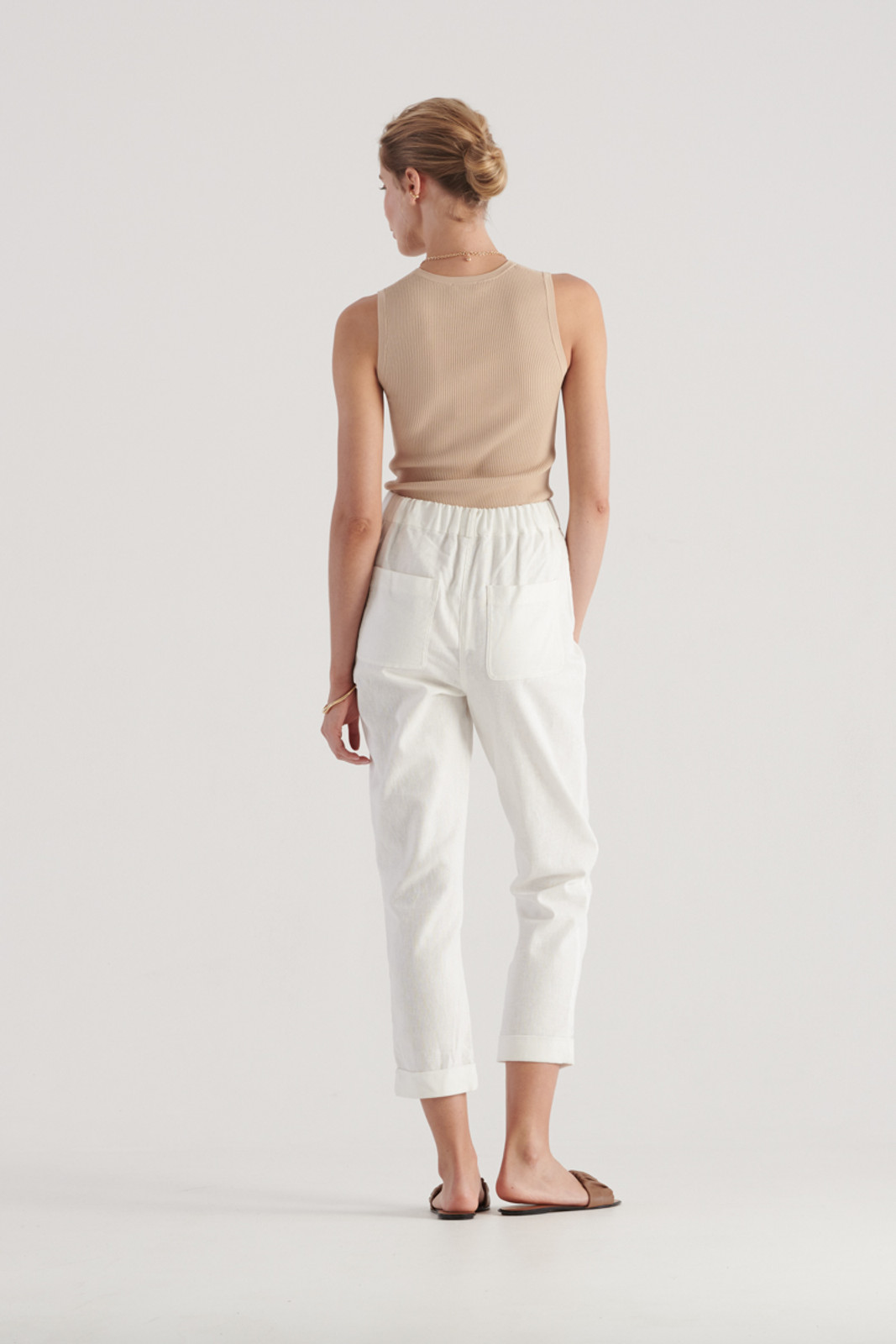 Elka Collective Womens White Margot Pant 3