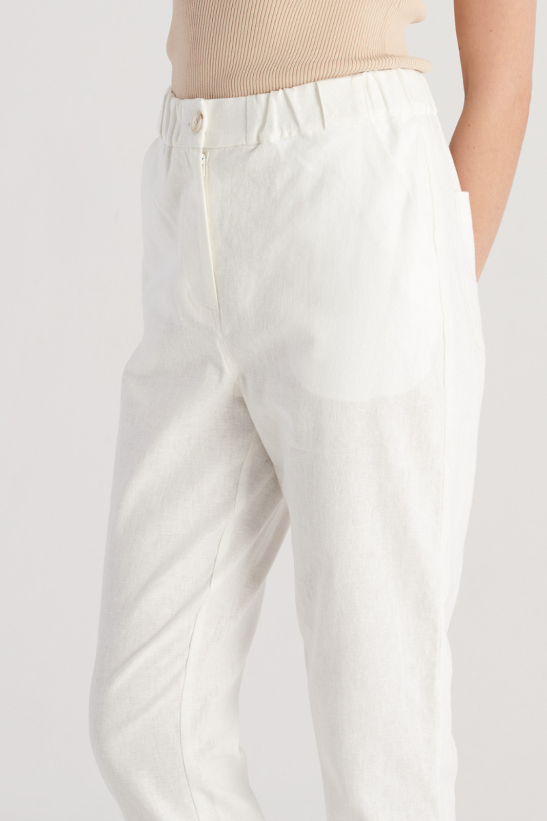Elka Collective Womens White Margot Pant 5