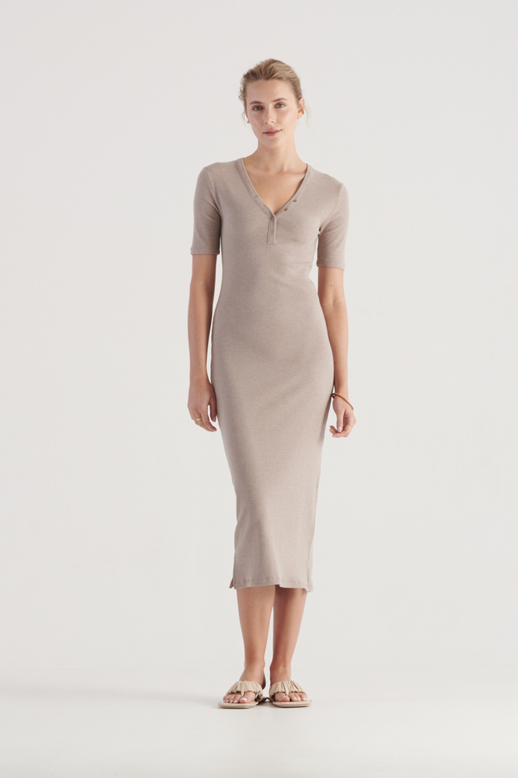 Elka Collective WomensHadley Dress Taupe Marle  0