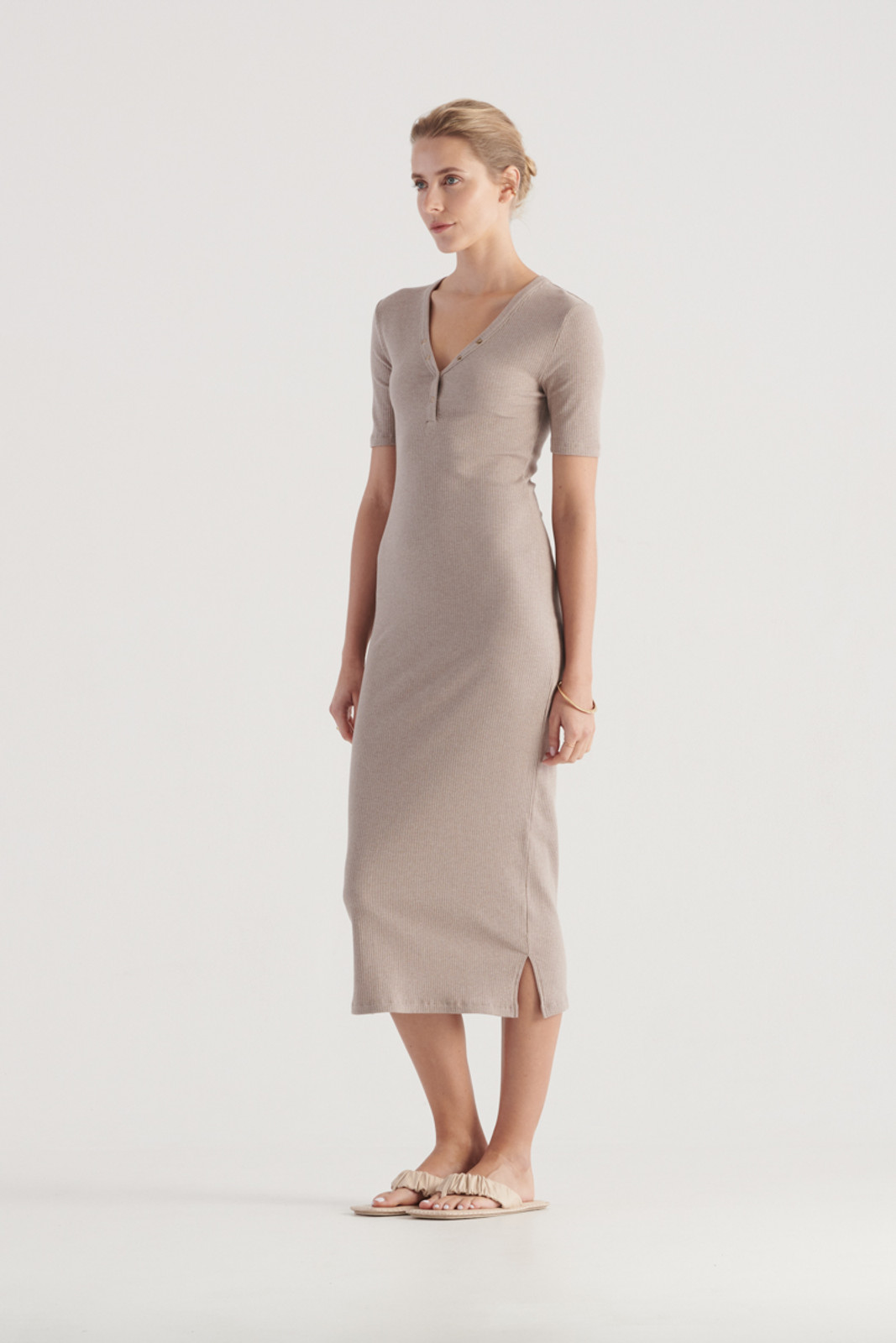Elka Collective WomensHadley Dress Taupe Marle  1