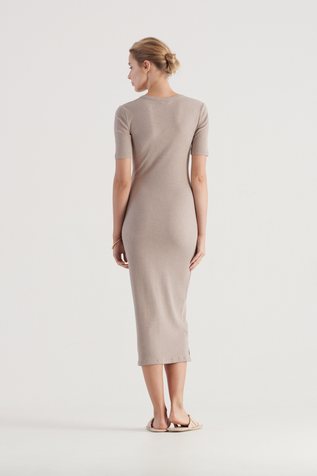 Elka Collective WomensHadley Dress Taupe Marle  2