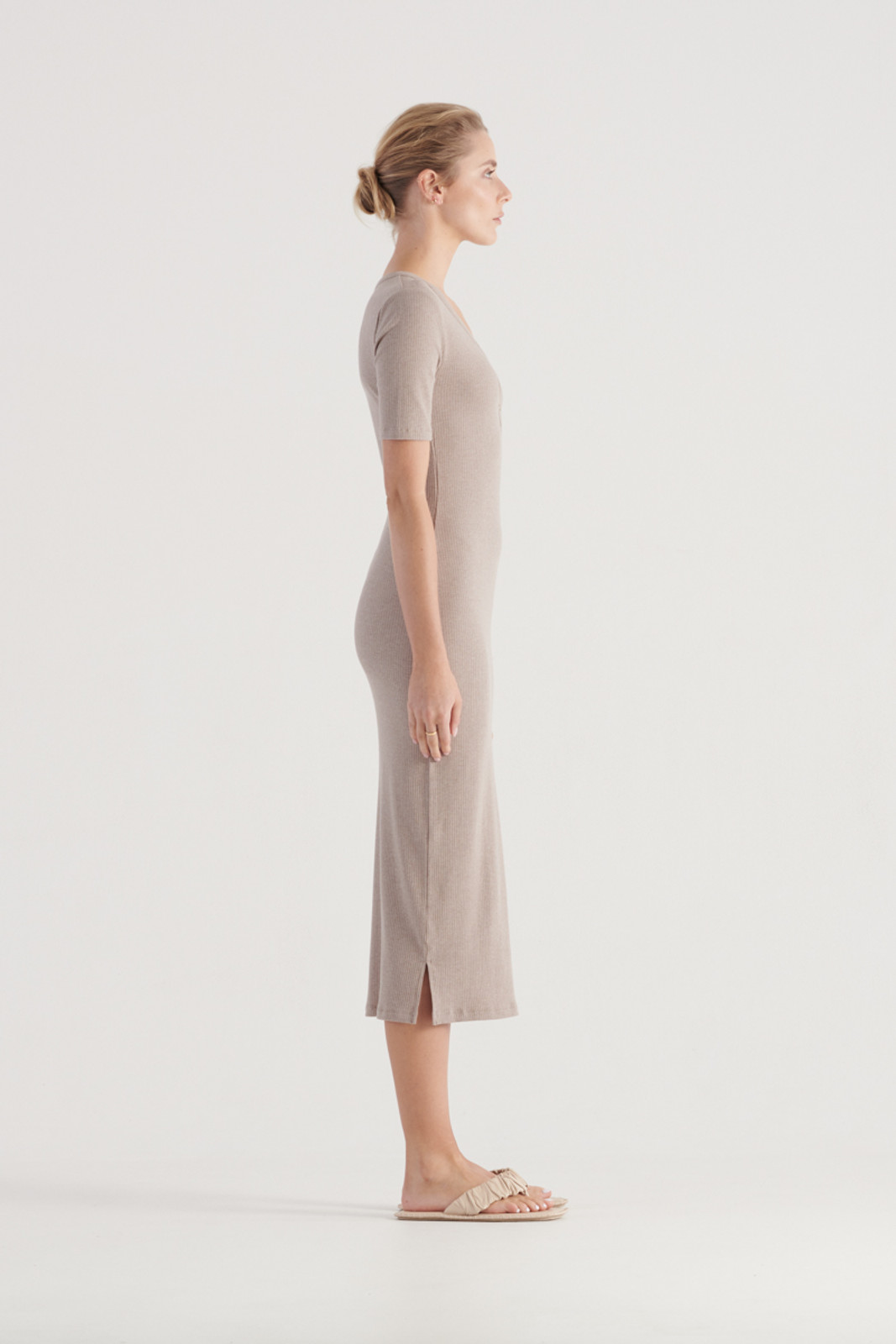 Elka Collective WomensHadley Dress Taupe Marle  3
