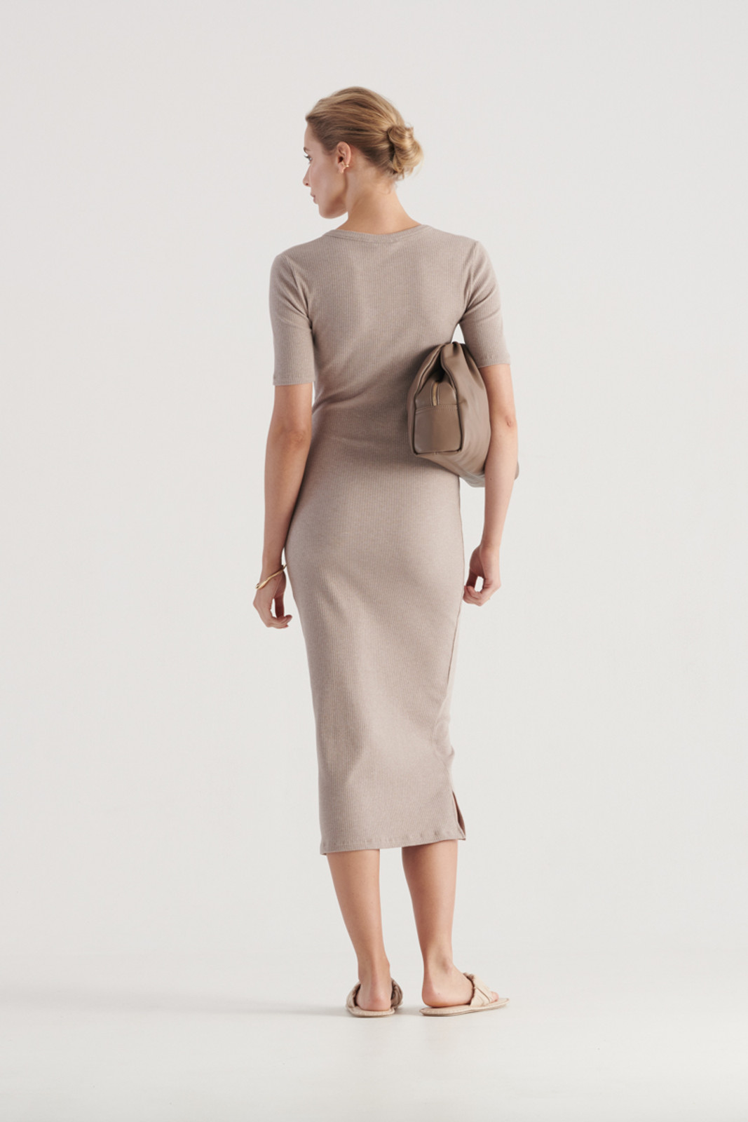 Elka Collective WomensHadley Dress Taupe Marle  4
