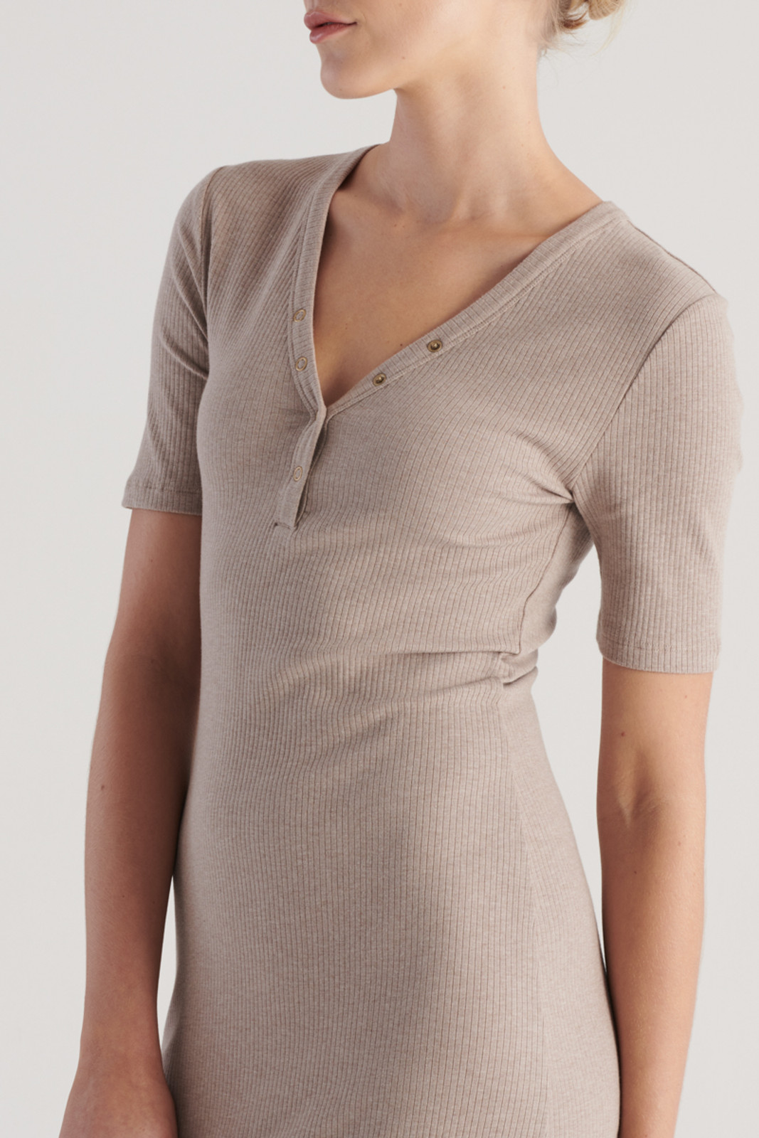 Elka Collective WomensHadley Dress Taupe Marle  7