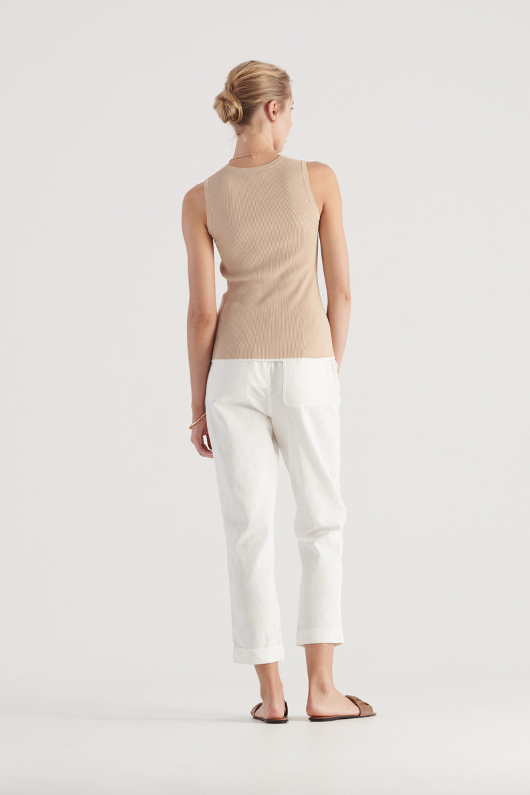 Elka Collective WomensTone Knit Top Sand  3