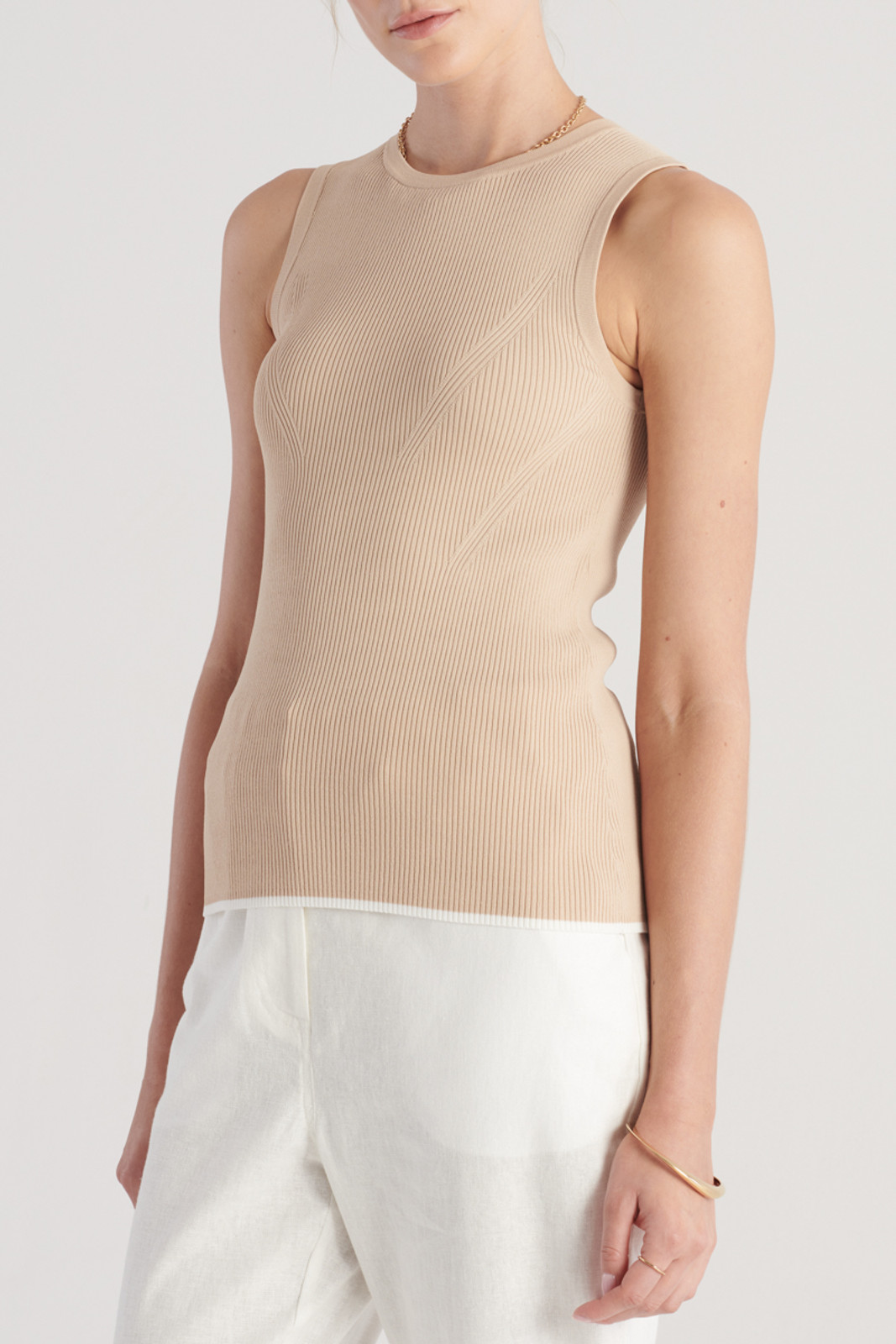 Elka Collective WomensTone Knit Top Sand  5
