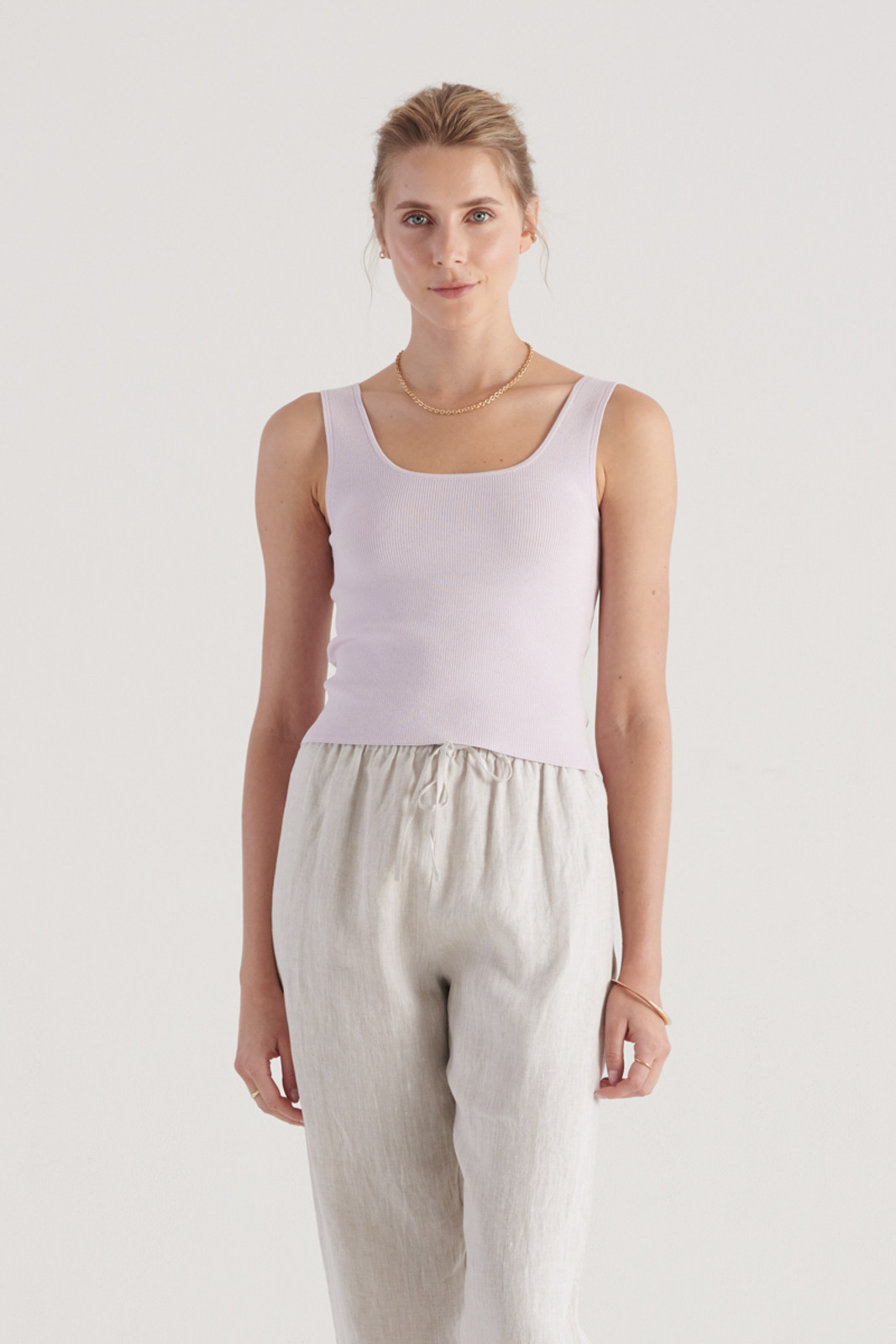 Elka Collective WomensFrame Knit Top Lilac  0