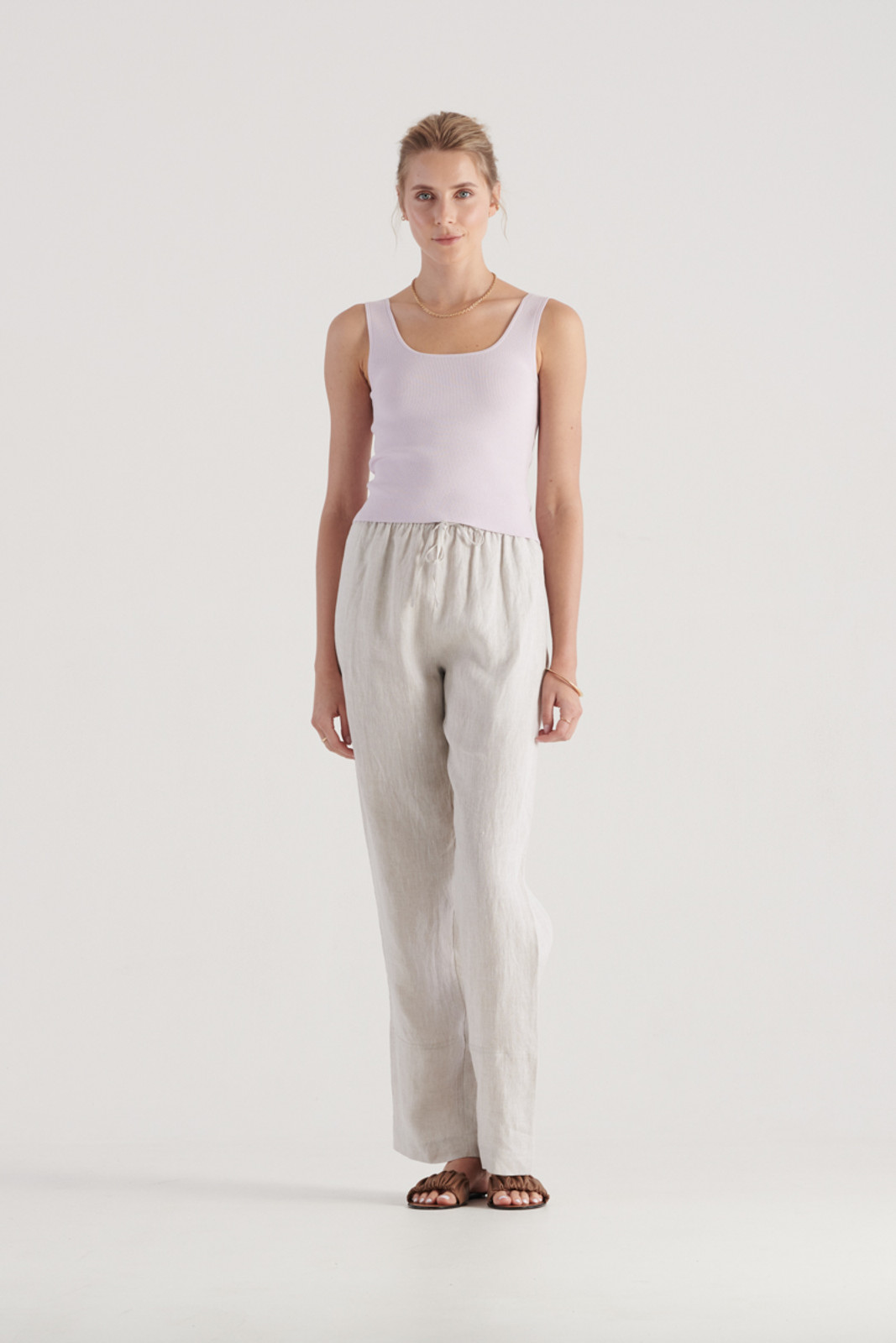 Elka Collective WomensFrame Knit Top Lilac  1