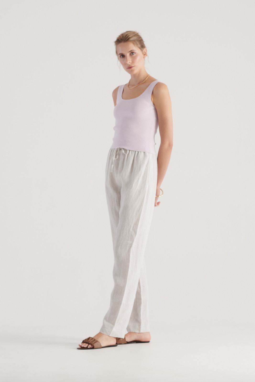Elka Collective WomensFrame Knit Top Lilac  2