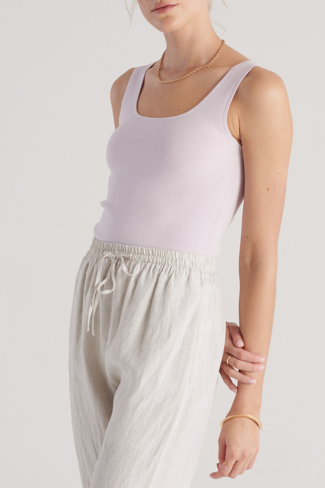 Elka Collective WomensFrame Knit Top Lilac  5