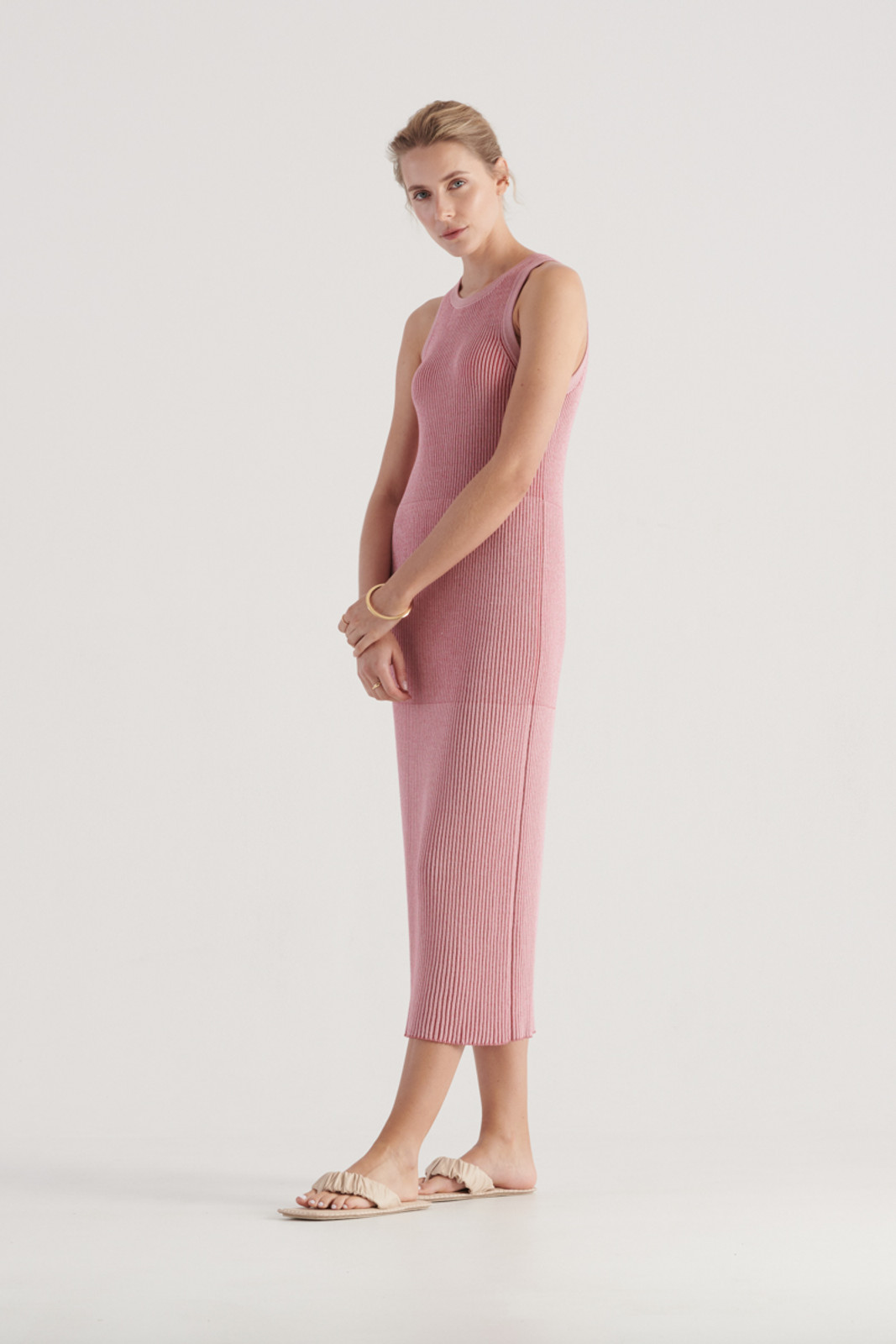 Elka Collective WomensStevie Knit Dress Pink/Red  2