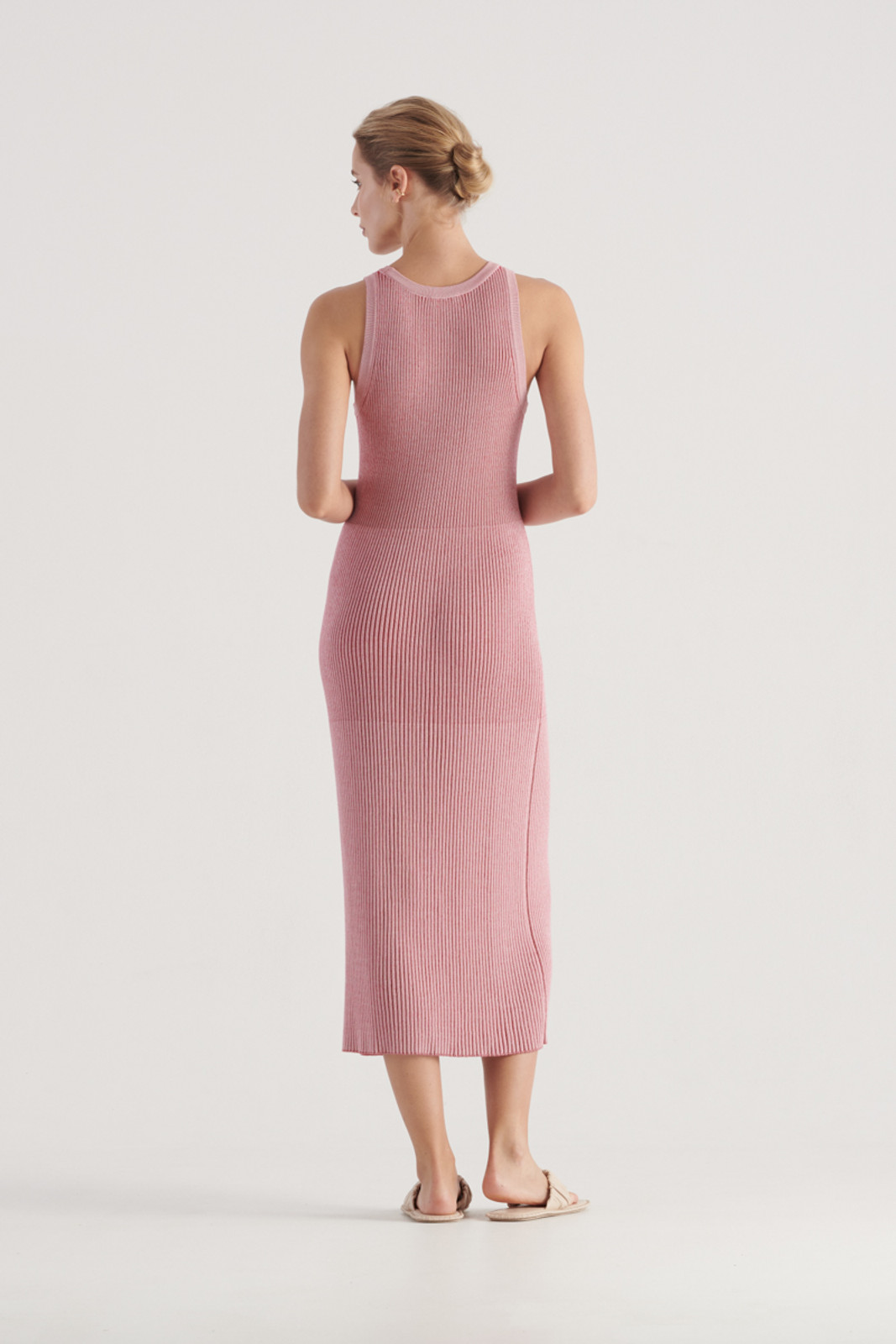 Elka Collective WomensStevie Knit Dress Pink/Red  3