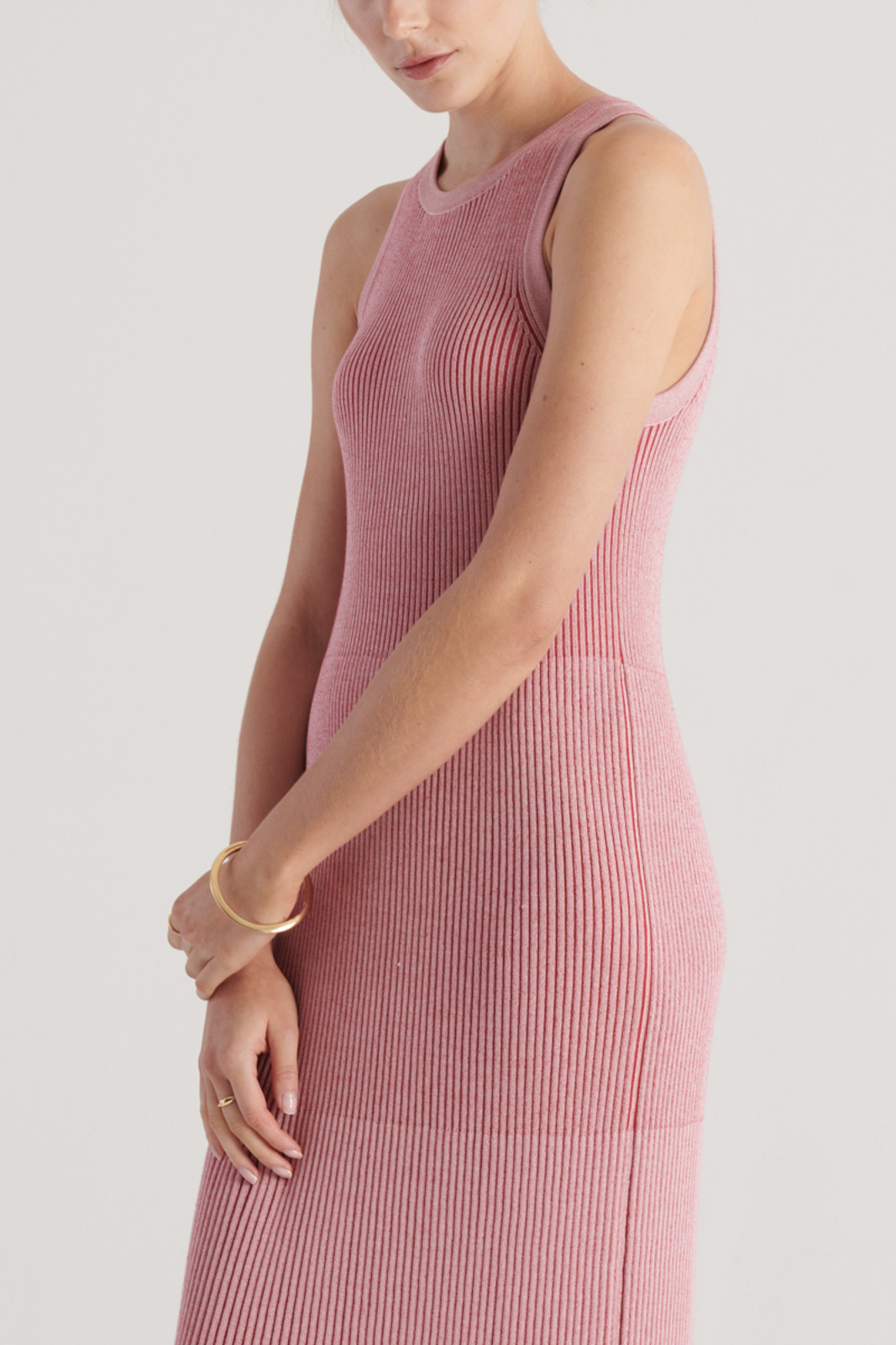 Elka Collective WomensStevie Knit Dress Pink/Red  5