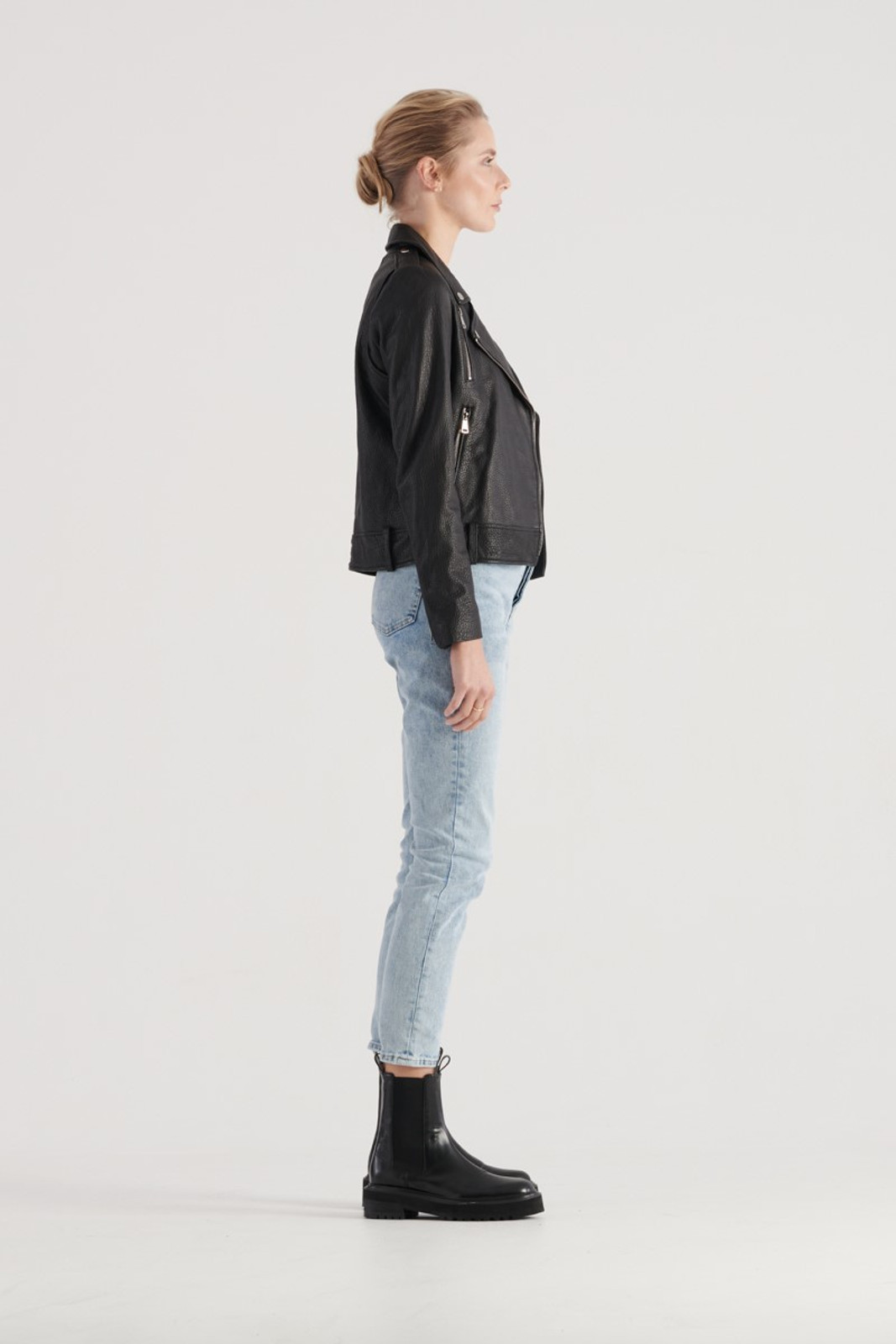 Elka Collective WOMENS Black Carrie Leather Jacket 4