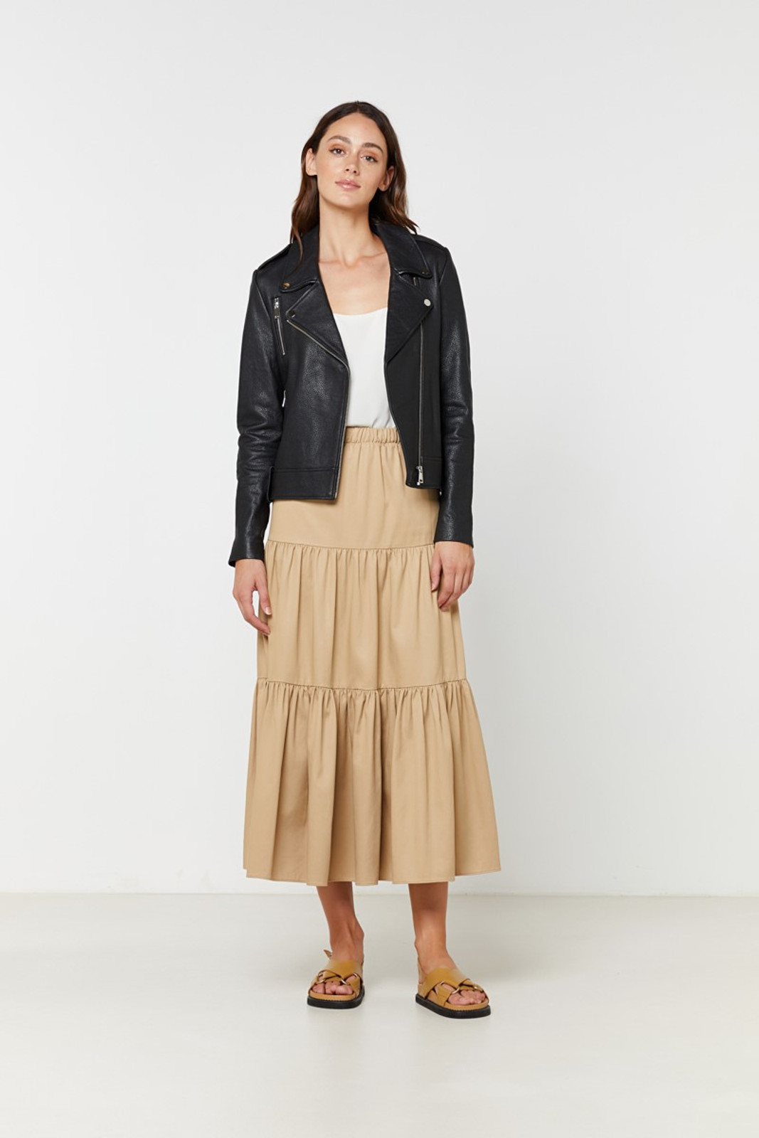 Elka Collective  Black Carrie Leather Jacket 3
