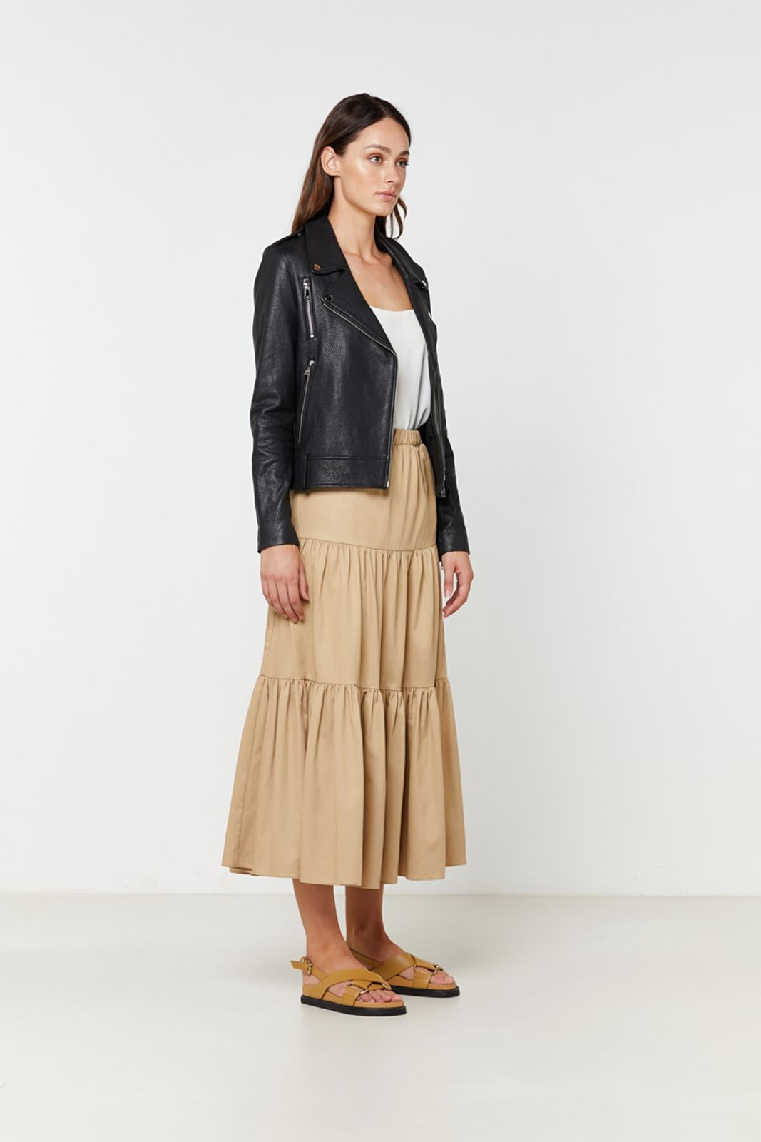 Elka Collective  Black Carrie Leather Jacket 4