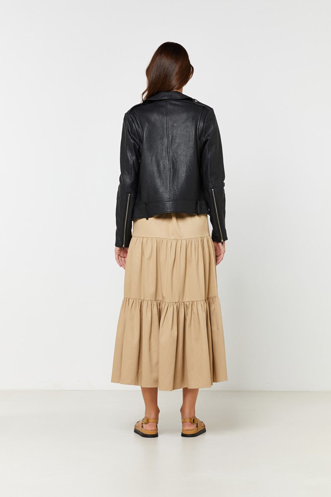 Elka Collective  Black Carrie Leather Jacket 6
