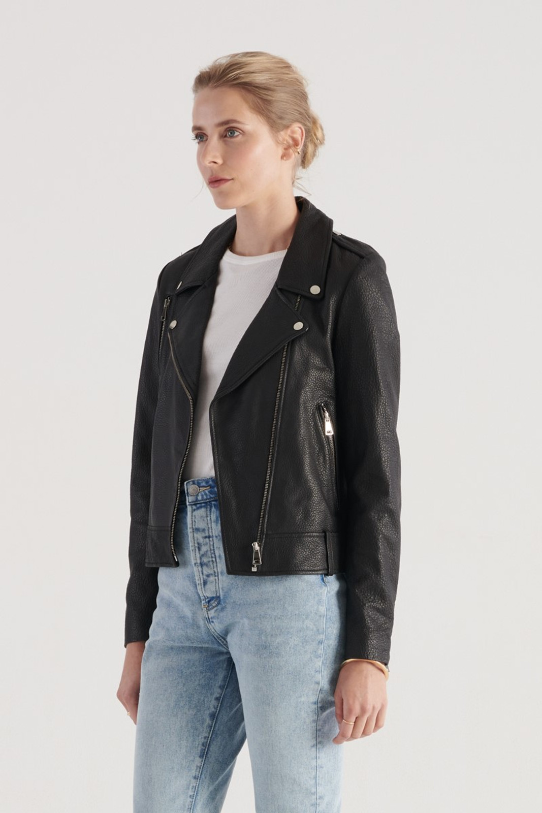 Elka Collective WOMENS Black Carrie Leather Jacket 0