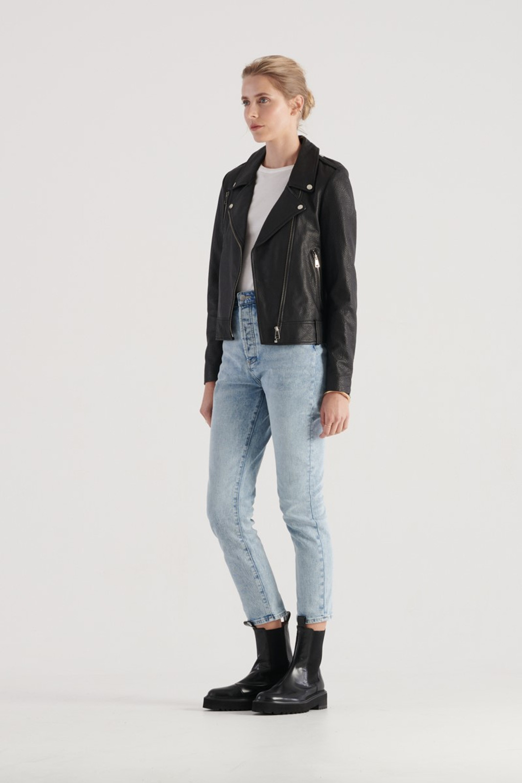 Elka Collective WOMENS Black Carrie Leather Jacket 2