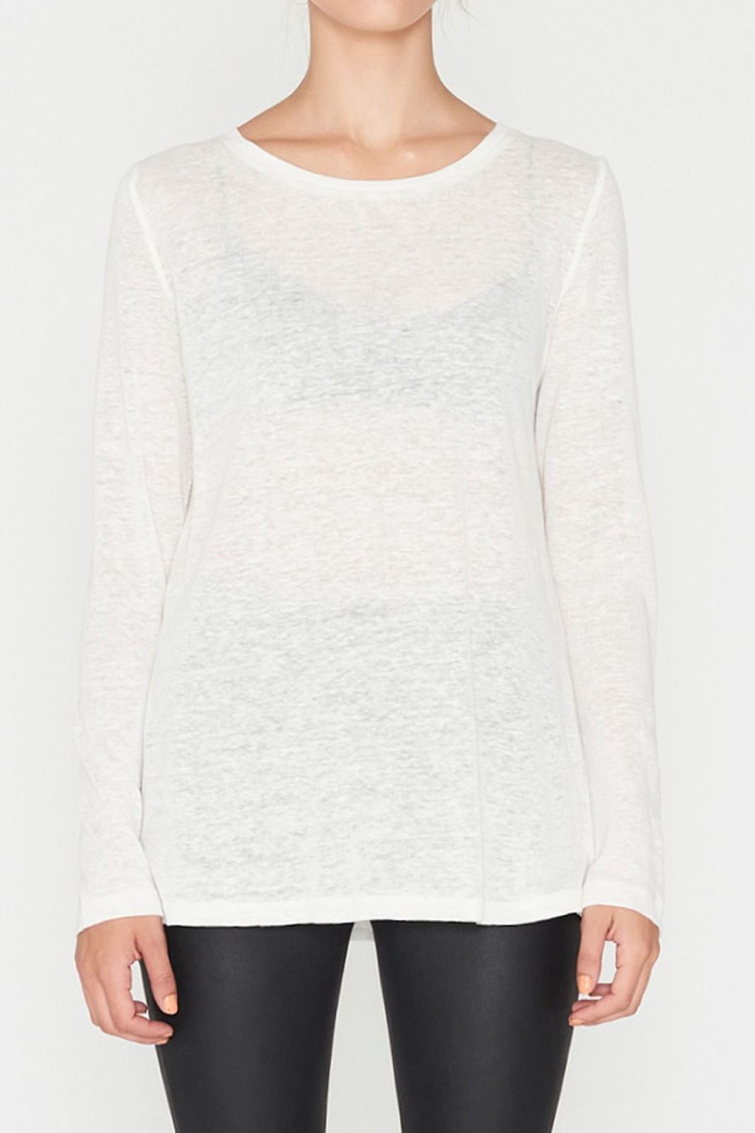Elka Collective EC Linen L/Slv Tee White  4