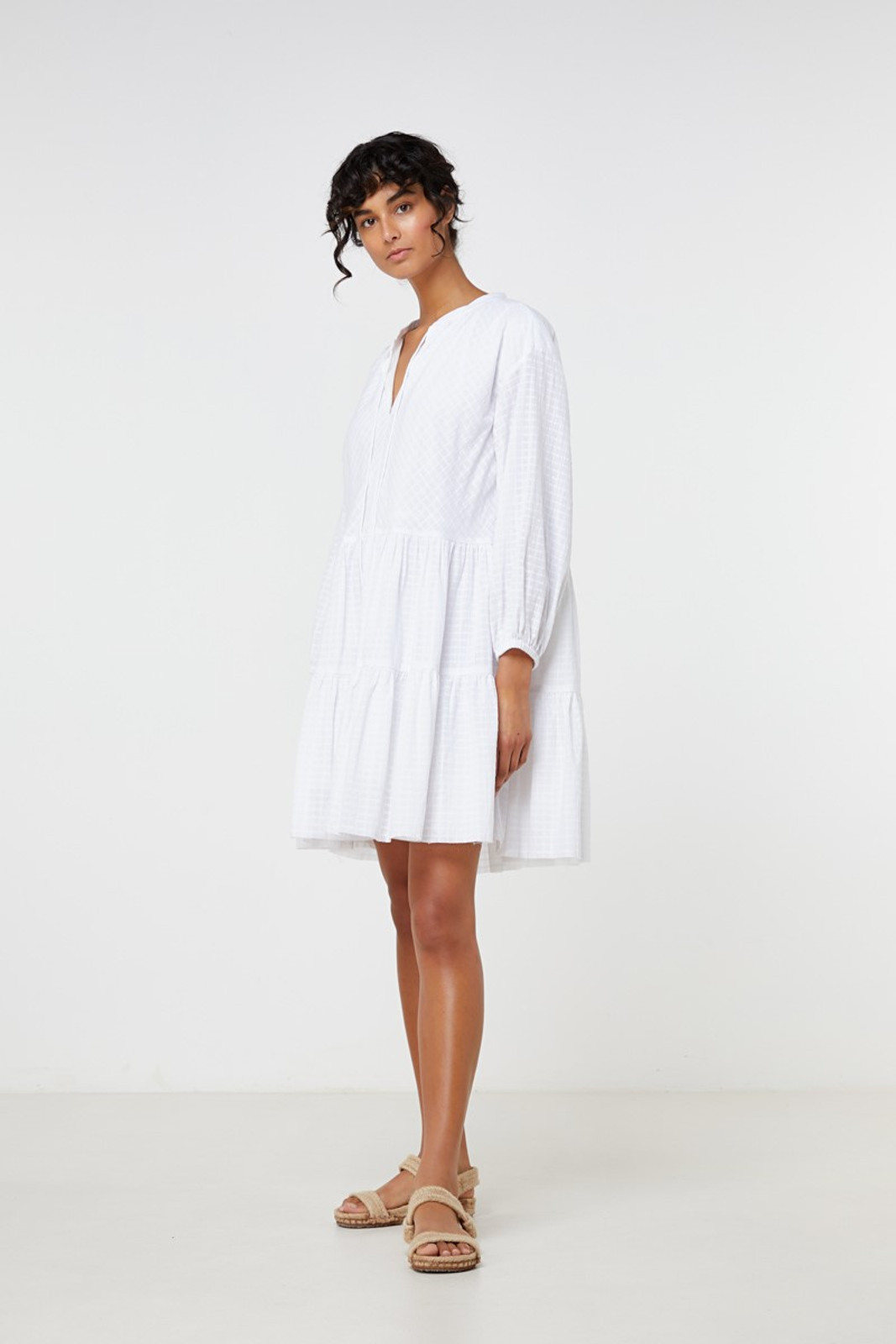 Elka Collective Ophelie Dress White  0