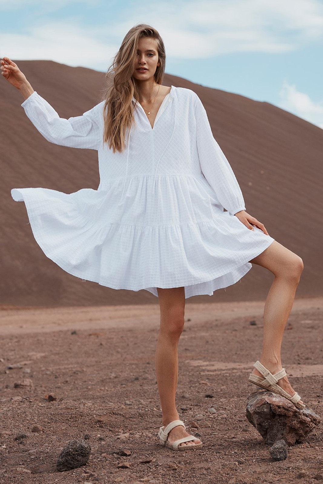 Elka Collective Ophelie Dress White  1