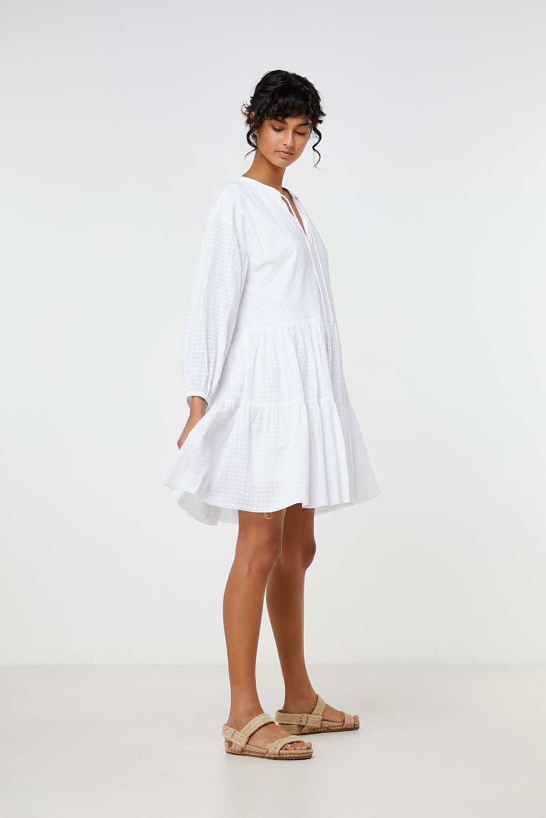 Elka Collective Ophelie Dress White  5