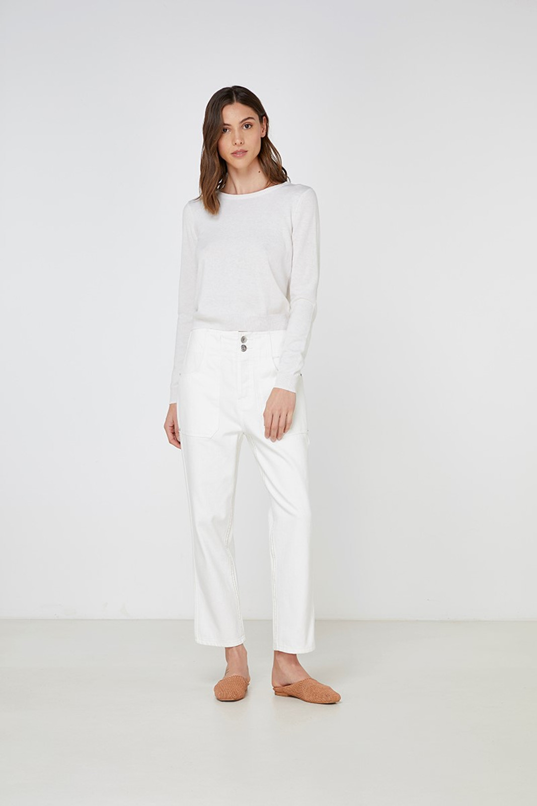 Elka Collective Gale Knit White  3