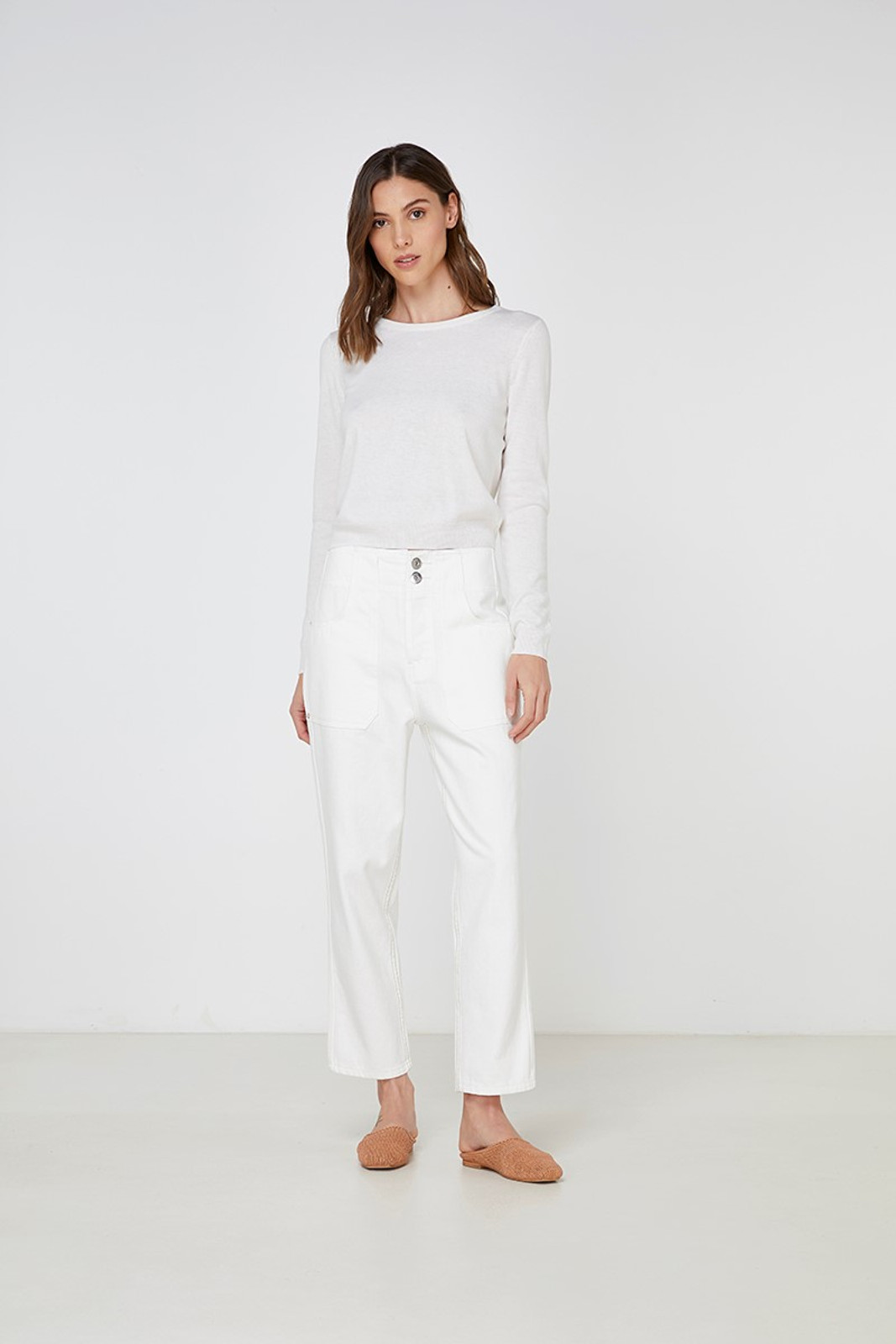 Elka Collective Gale Knit White  4
