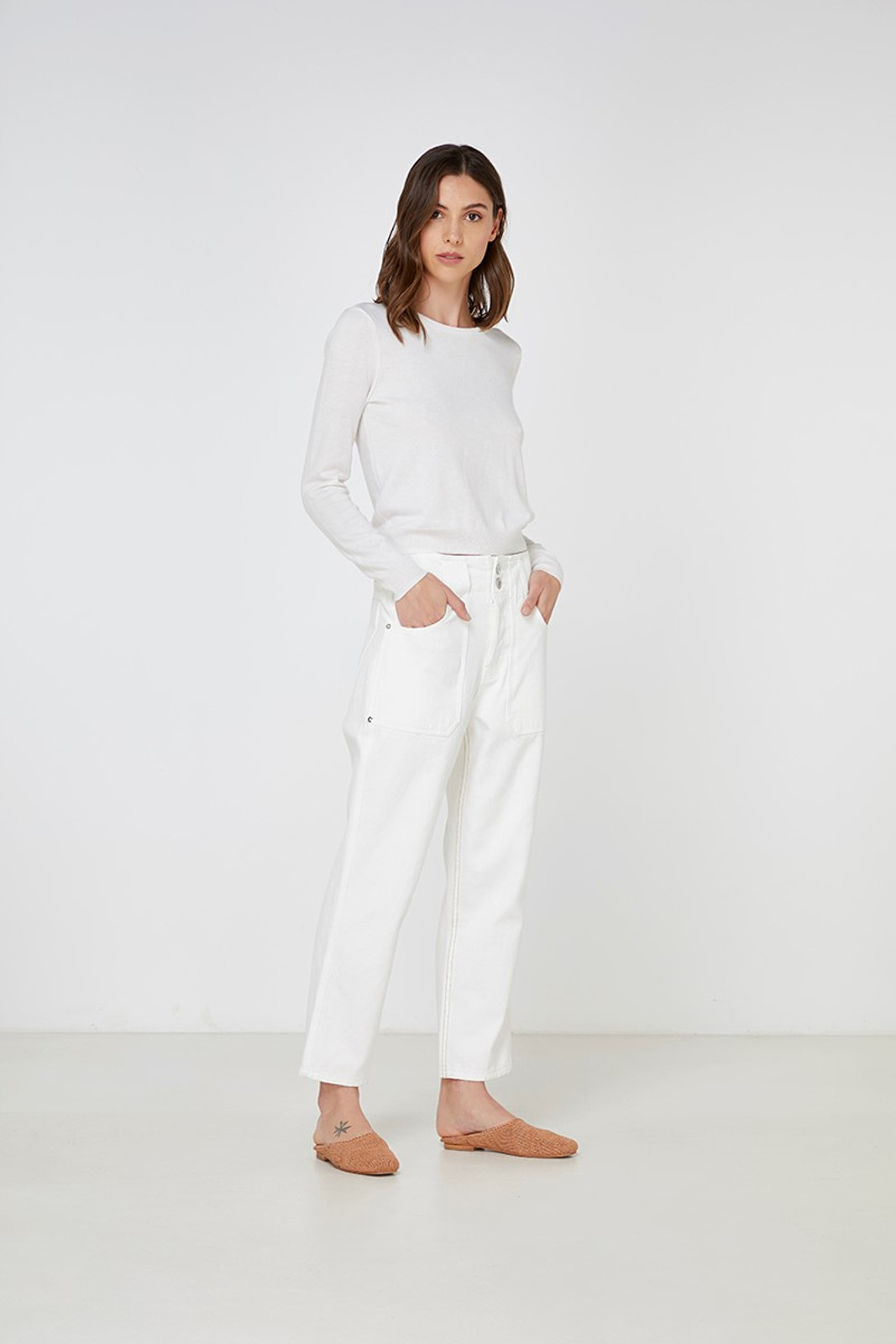 Elka Collective Gale Knit White  5