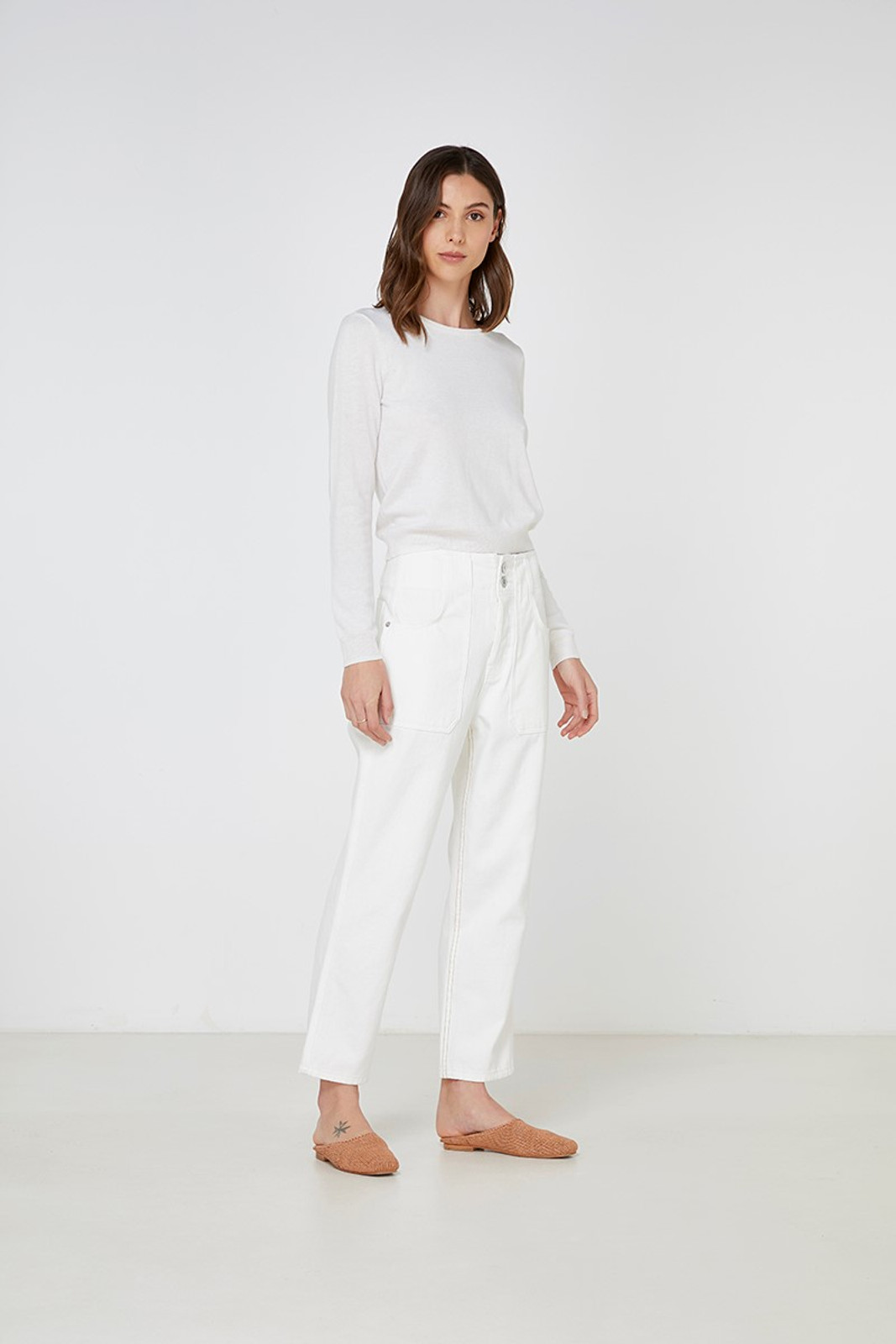 Elka Collective Gale Knit White  6